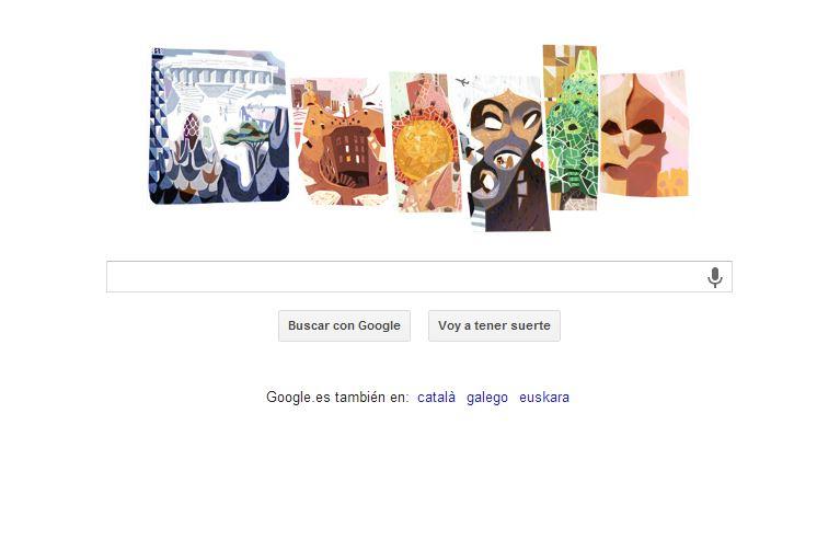 La obra de Antonio Gaudí protagoniza el último doodle de Google