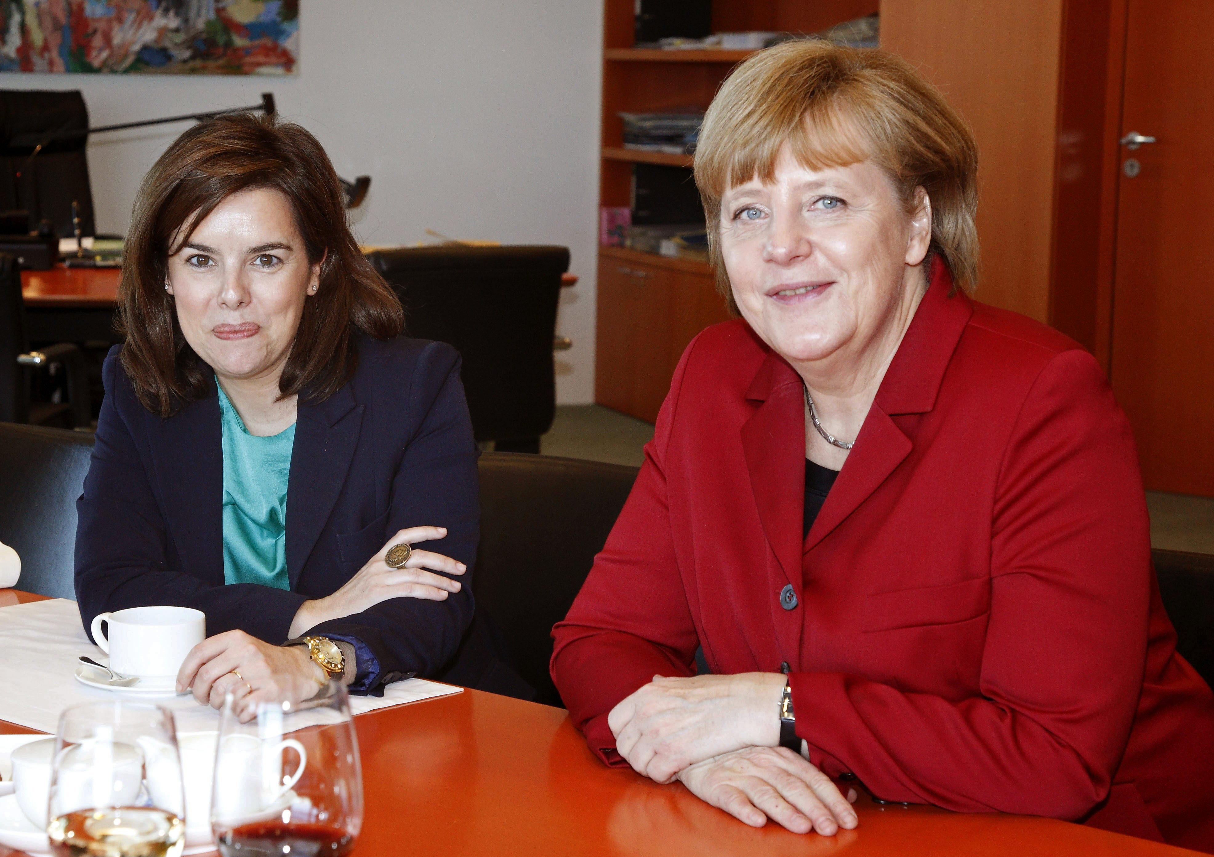 Soraya Sáenz reinará mañana en la televisión de Berlín