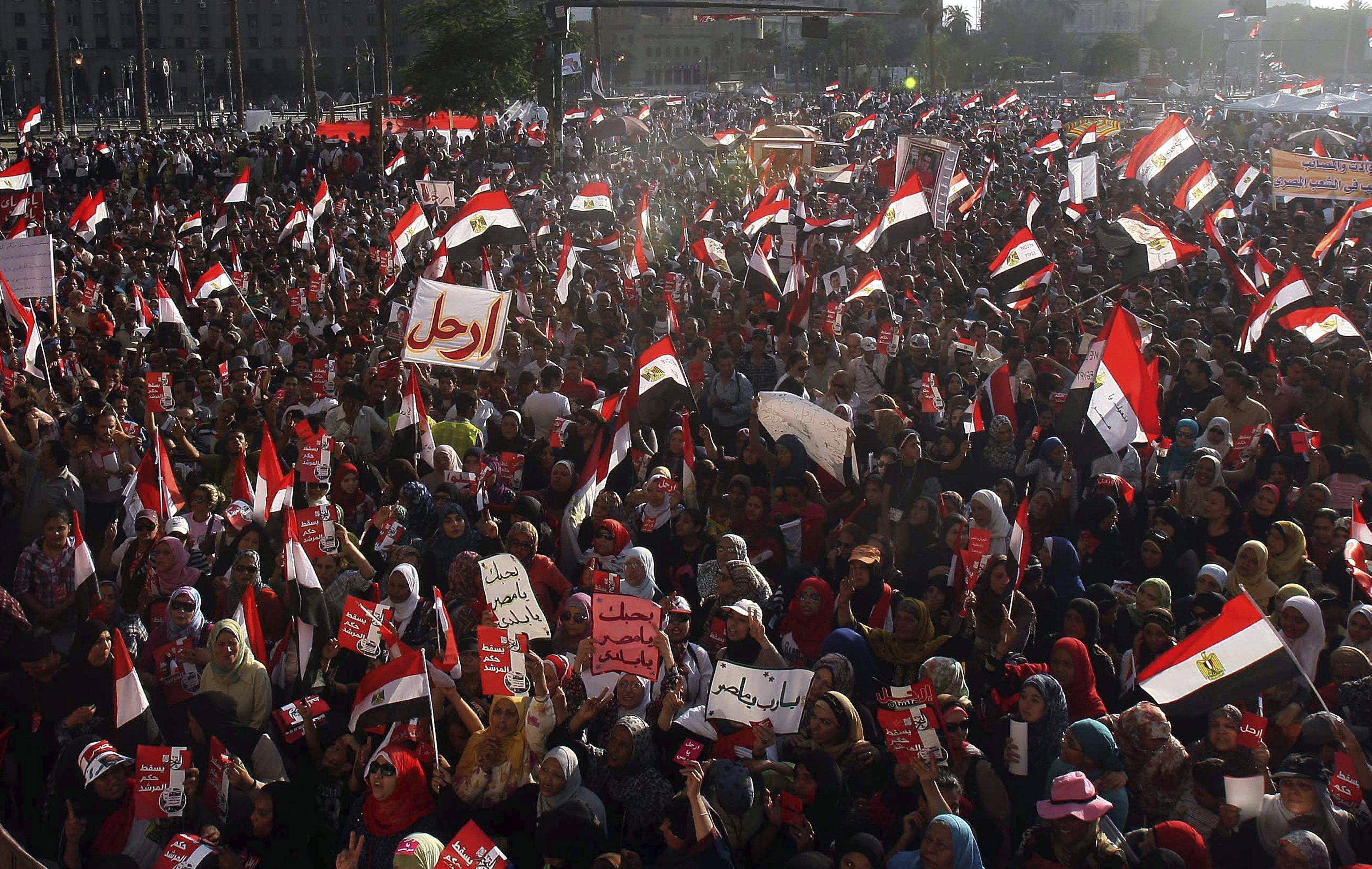 Obama apoya «las protestas pacíficas en Egipto» y pide a Mursi diálogo