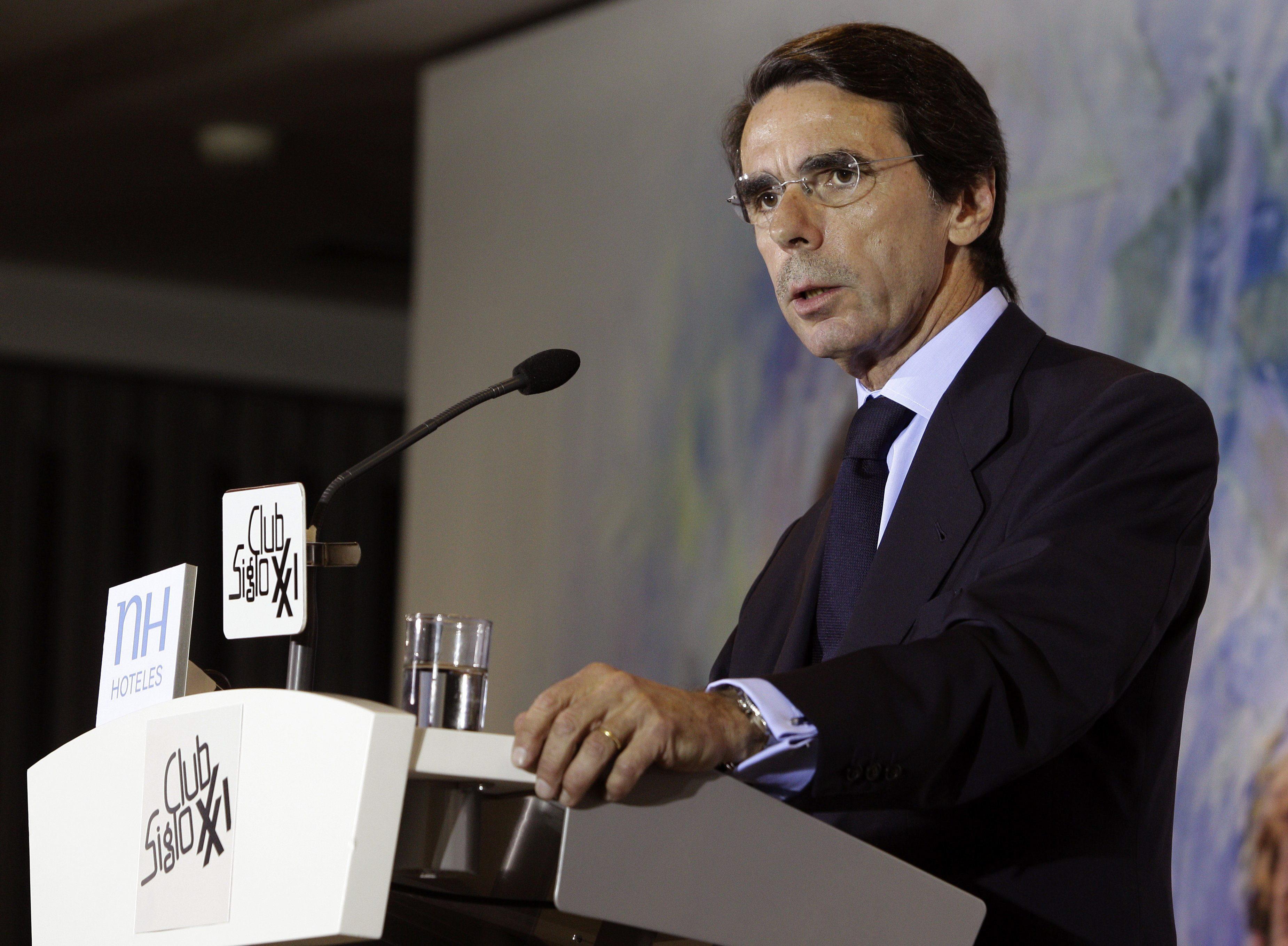 Aznar asegura que España debe reforzar los elementos de cohesión del Estado