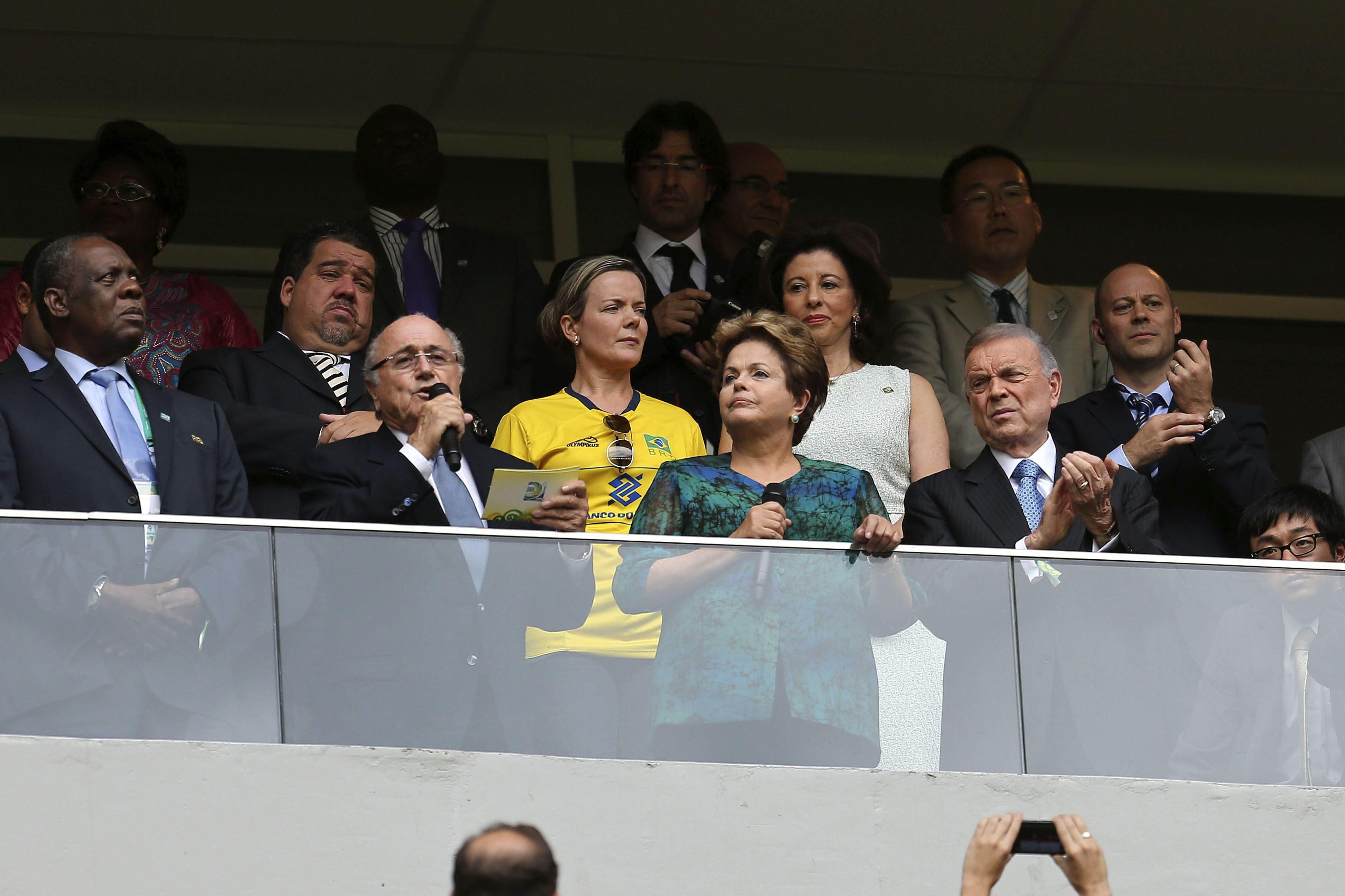 La FIFA considera un desplante la ausencia de Rousseff en la final de la Confederaciones