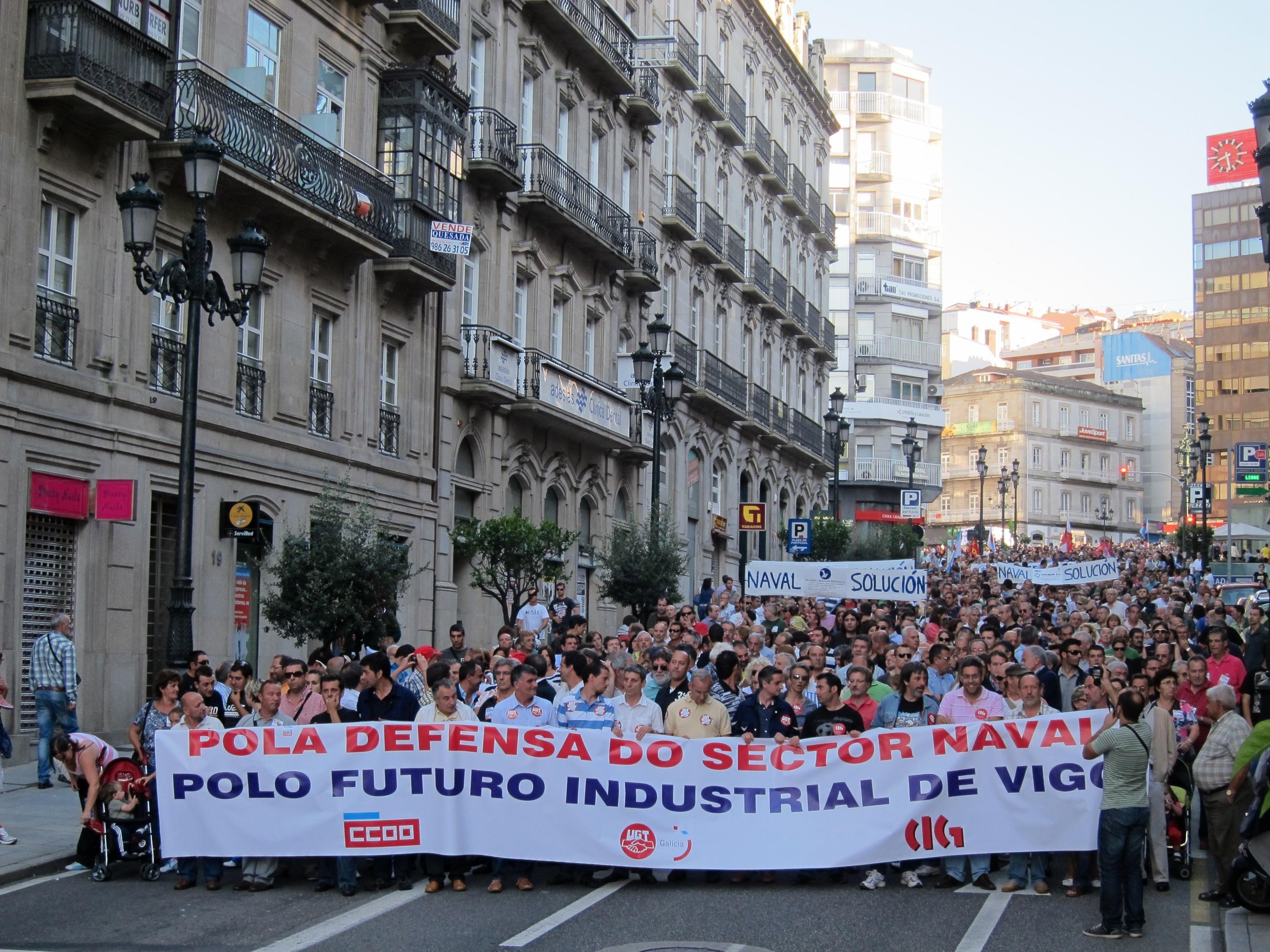 El Gobierno, Pymar, sindicatos y los presidentes de Galicia, Asturias y País Vasco buscan un frente común por el naval