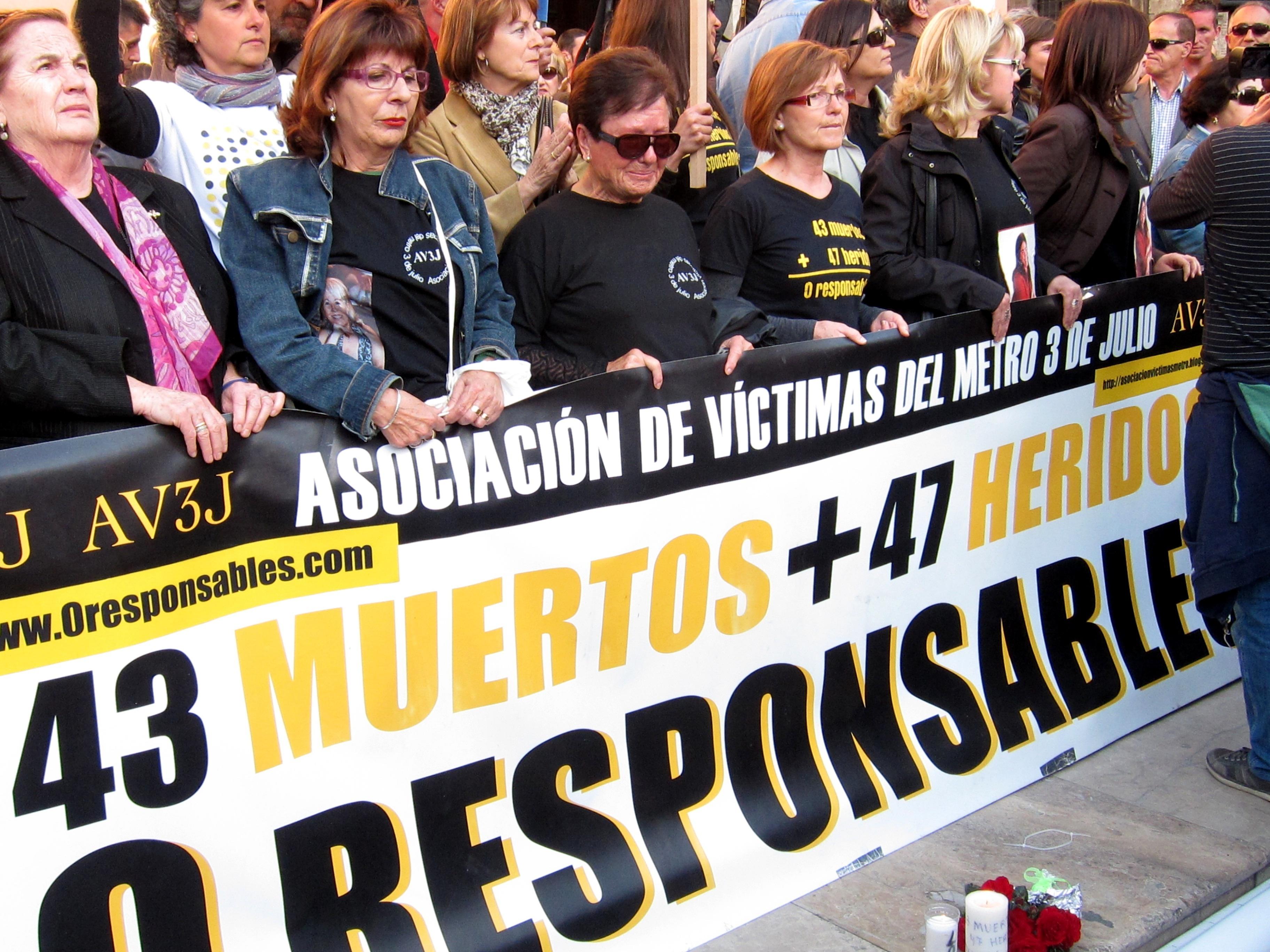 Víctimas del accidente de metro de Valencia, ante el séptimo aniversario: «Se ha roto la losa del olvido»