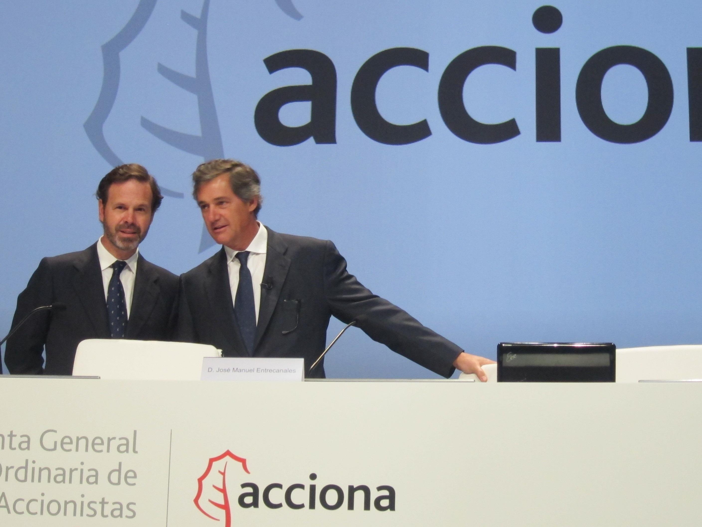Acciona reparte hoy un dividendo complementario de 1,75 euros