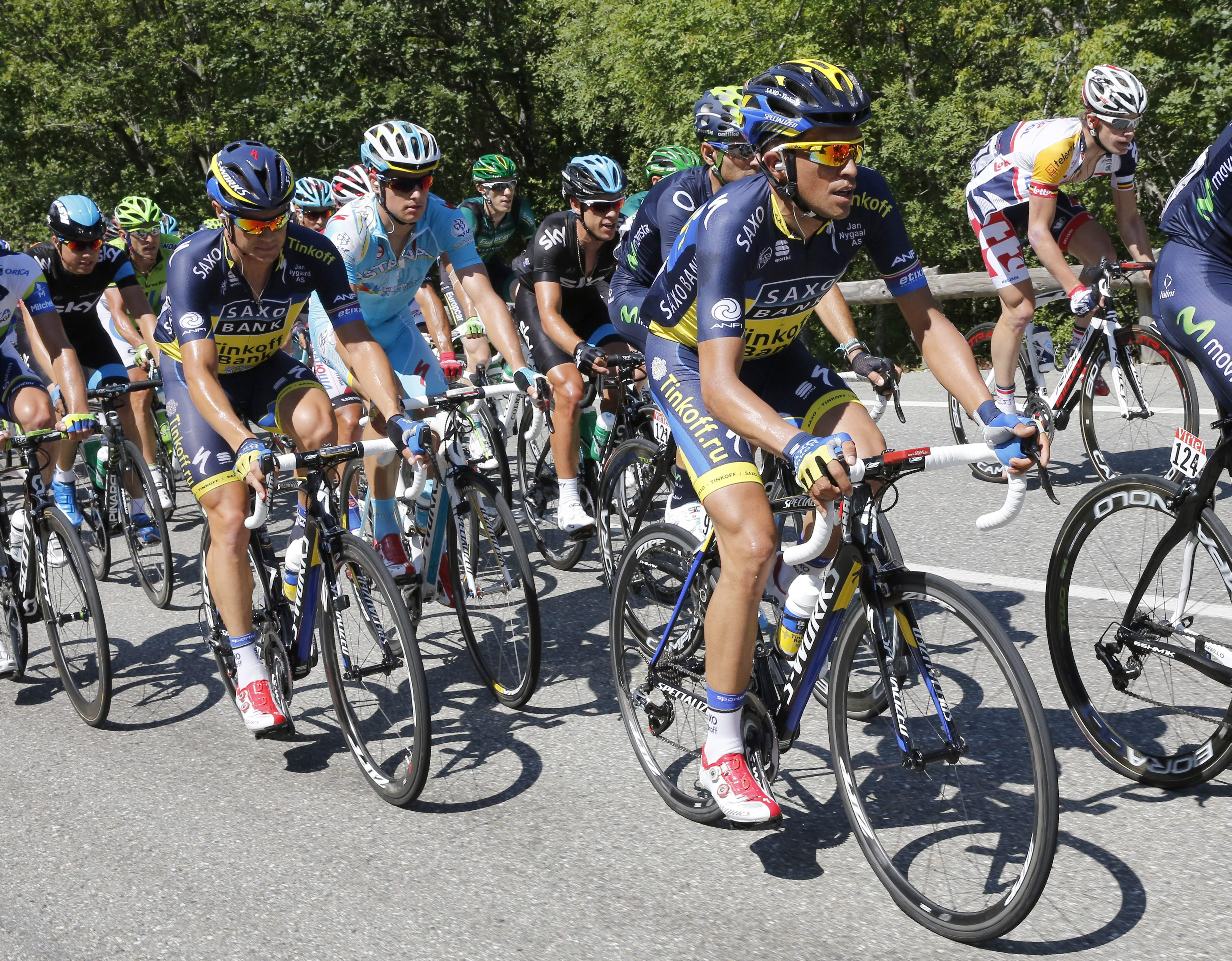 Contador espera estar «al cien por ciento» para la contrarreloj por equipos