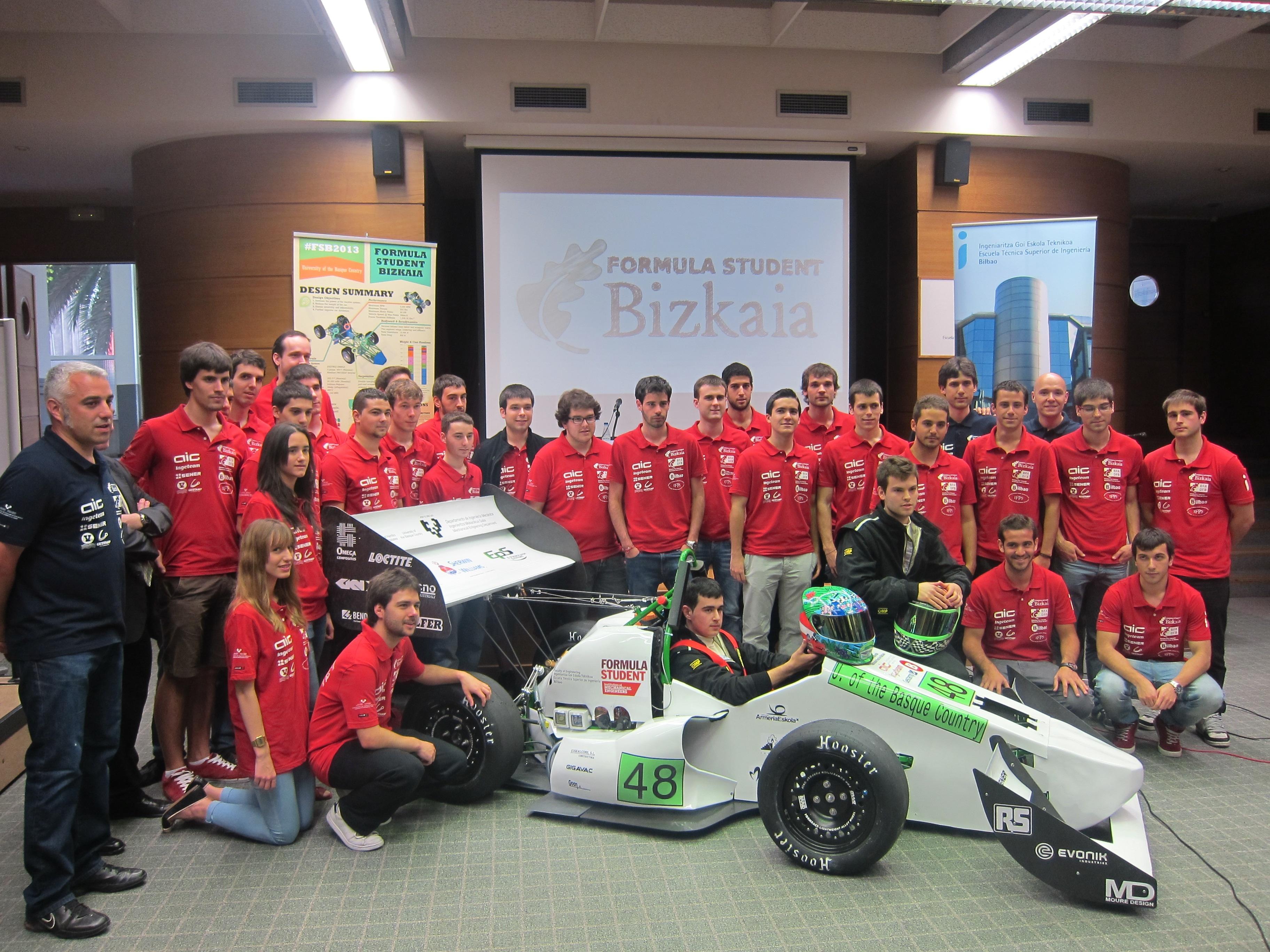 Estudiantes de ingeniería de Bilbao competirán en Silverstone con un coche eléctrico por primera vez