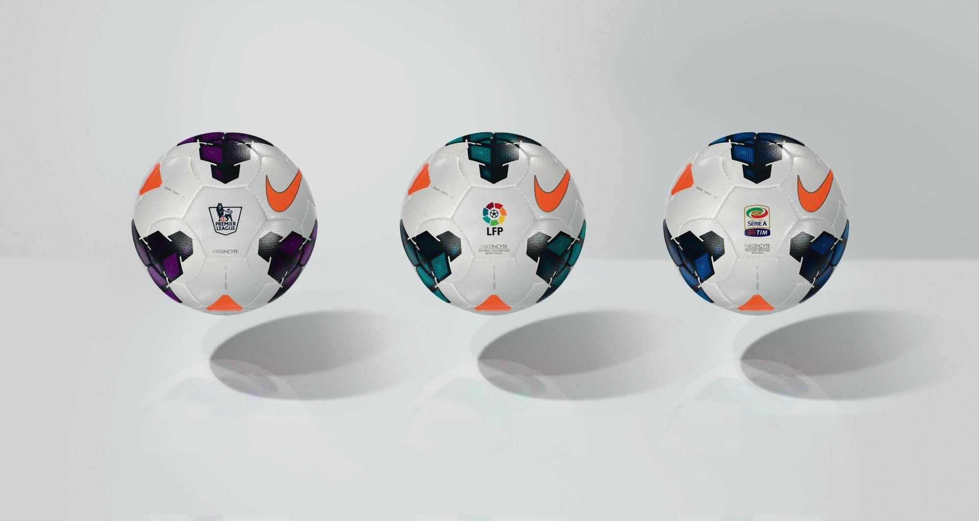 »Nike Incyte», balón oficial de las Ligas BBVA, »Premier» y Serie A italiana la próxima temporada 2013-14