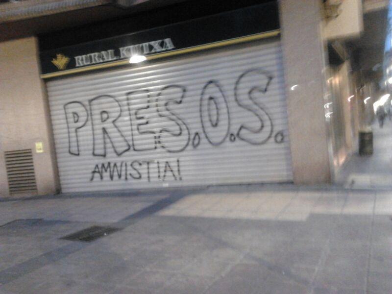 El PP denuncia pintadas a favor de ETA y los presos en las fiestas de Rekalde en Bilbao