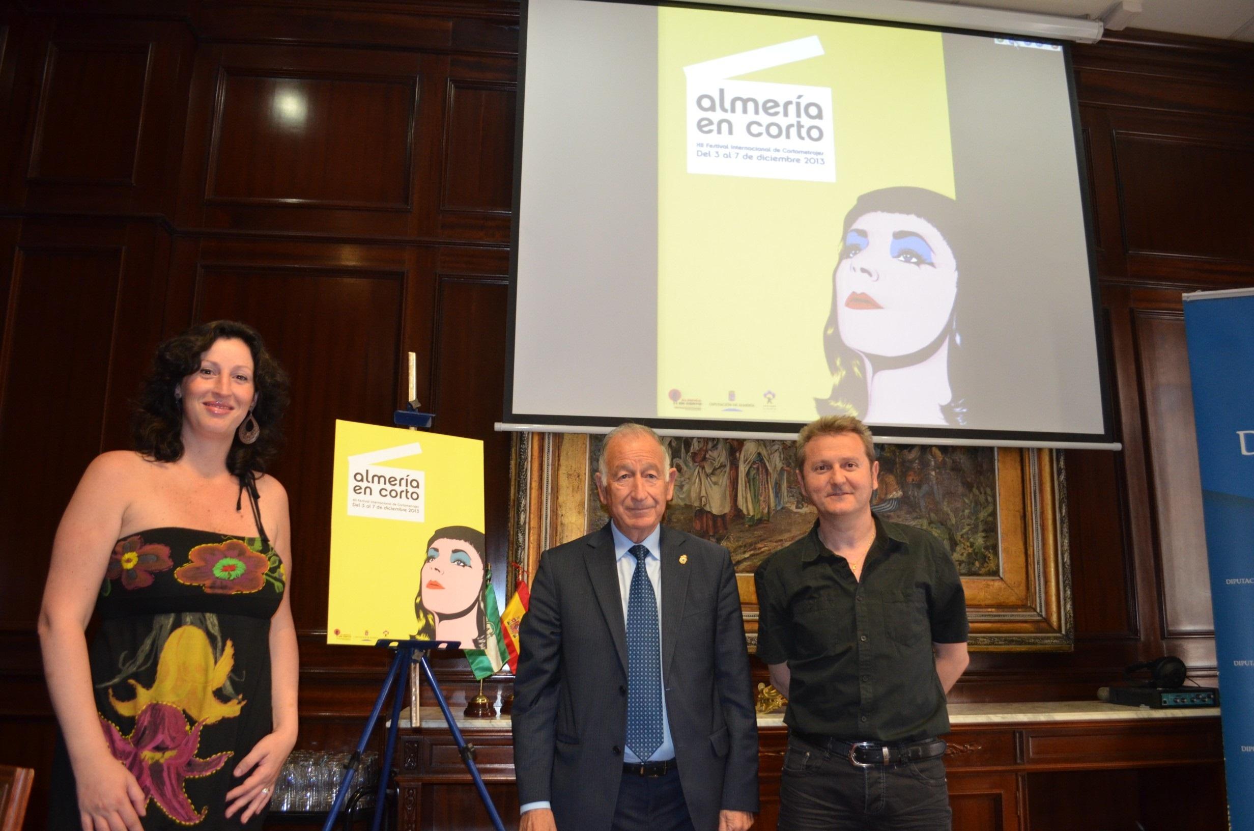 Una imagen pop art de Liz Taylor en »Cleopatra», el cartel del XII Festival »Almería en Corto»