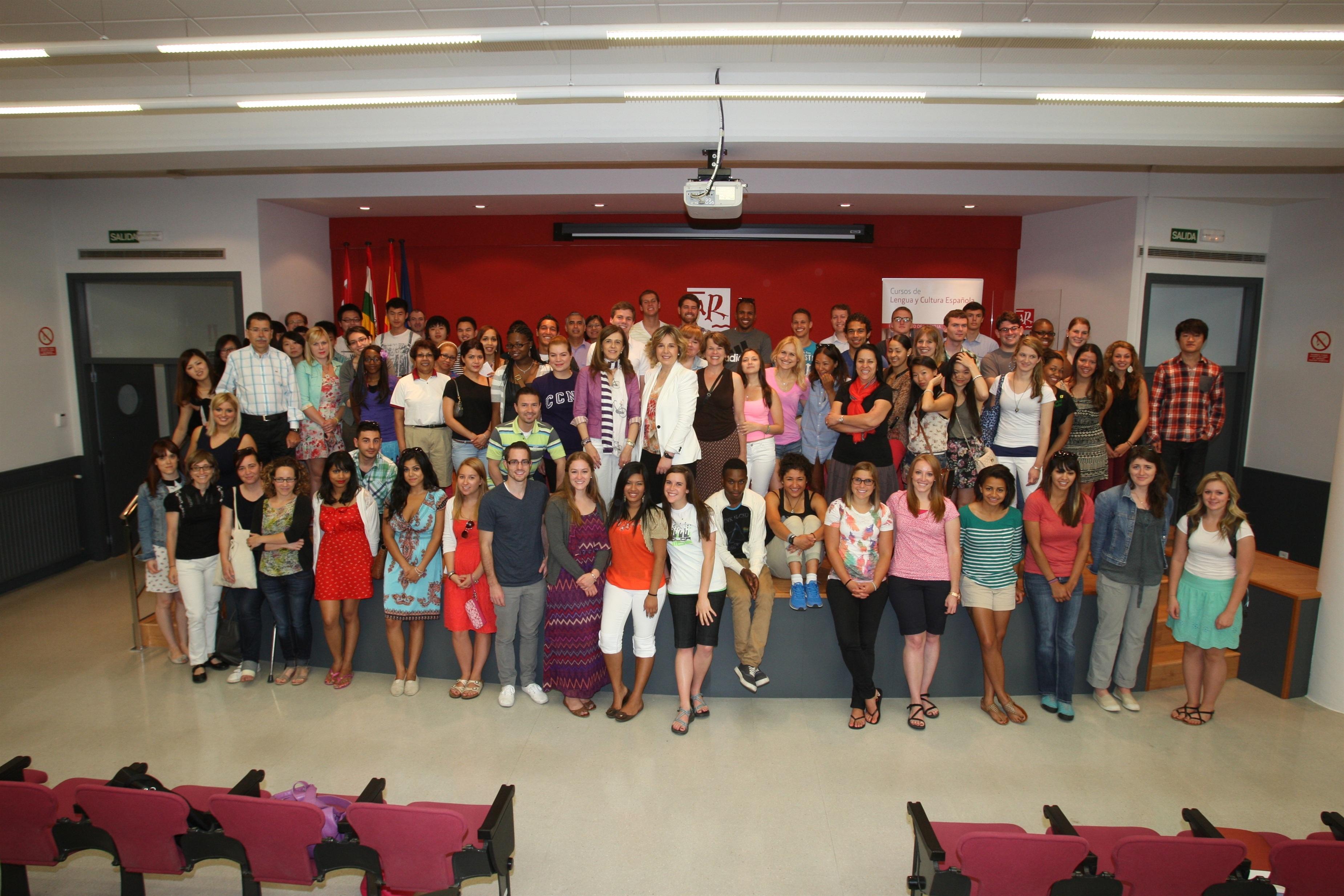 La UR ha recibido a los alumnos de la edición de verano del curso de lengua y cultura españolas para extranjeros