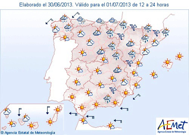 Viento fuerte en El Estrecho, litoral de Almería y Canarias