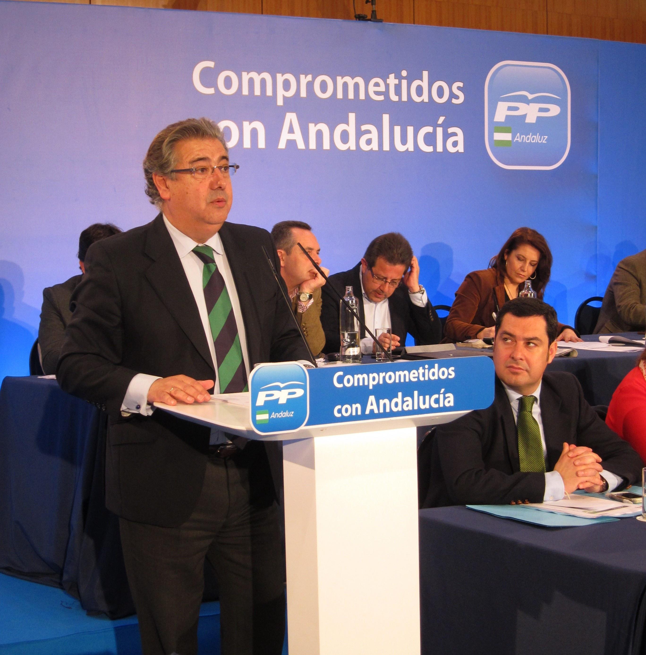 Zoido afirma que mientras Griñán da «la »espantá», el PP-A trabaja por Andalucía y no altera su calendario