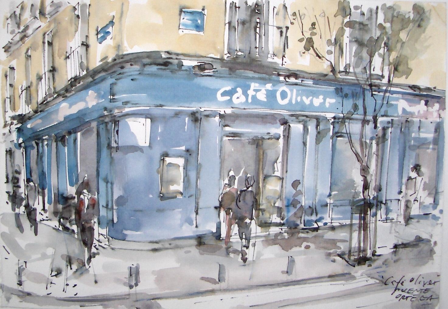 Carlos Puente Ortega ha pintado 2.500 bares de Madrid en tres años