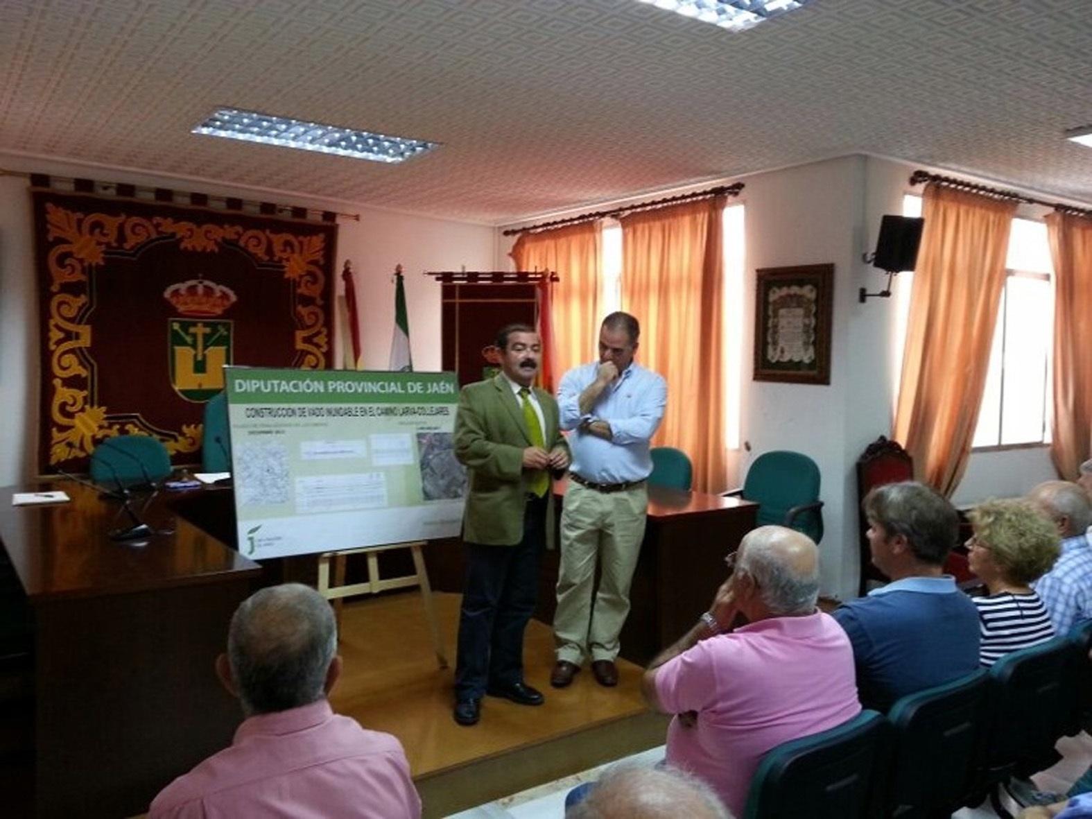 La Diputación construirá un vado inundable en Quesada para facilitar el paso de vehículos sobre el Guadiana Menor