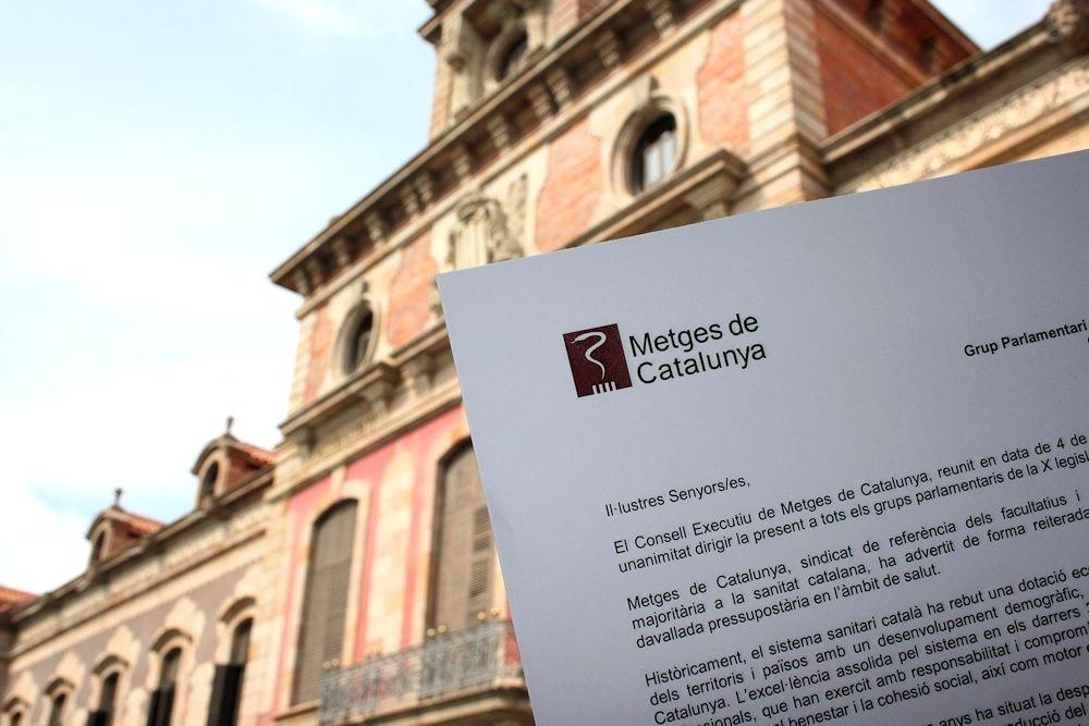 Metges de Catalunya pide a los partidos que el Govern no recorte el presupuesto de Salud
