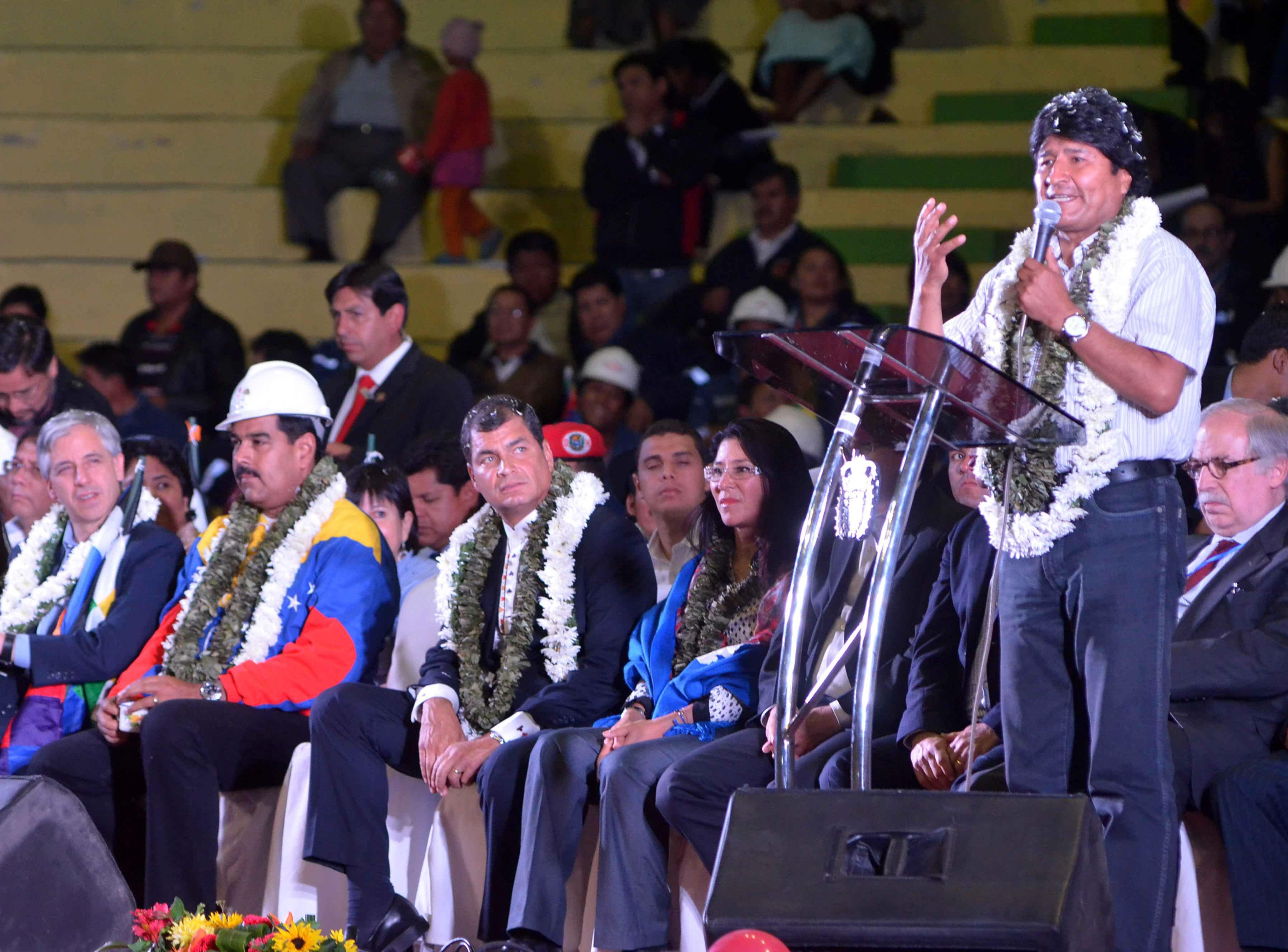 Presidentes sudamericanos firman las denuncias en apoyo a Morales