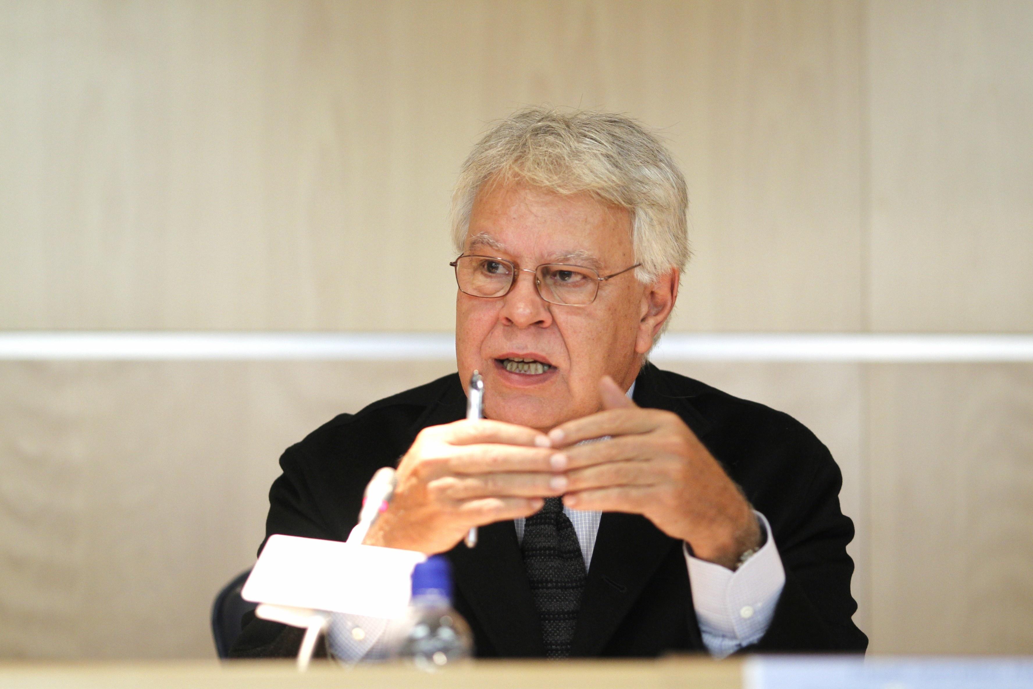 Felipe González asiste el viernes en Mérida a la reunión del PSOE de Extremadura y la dirección del Grupo Parlamentario