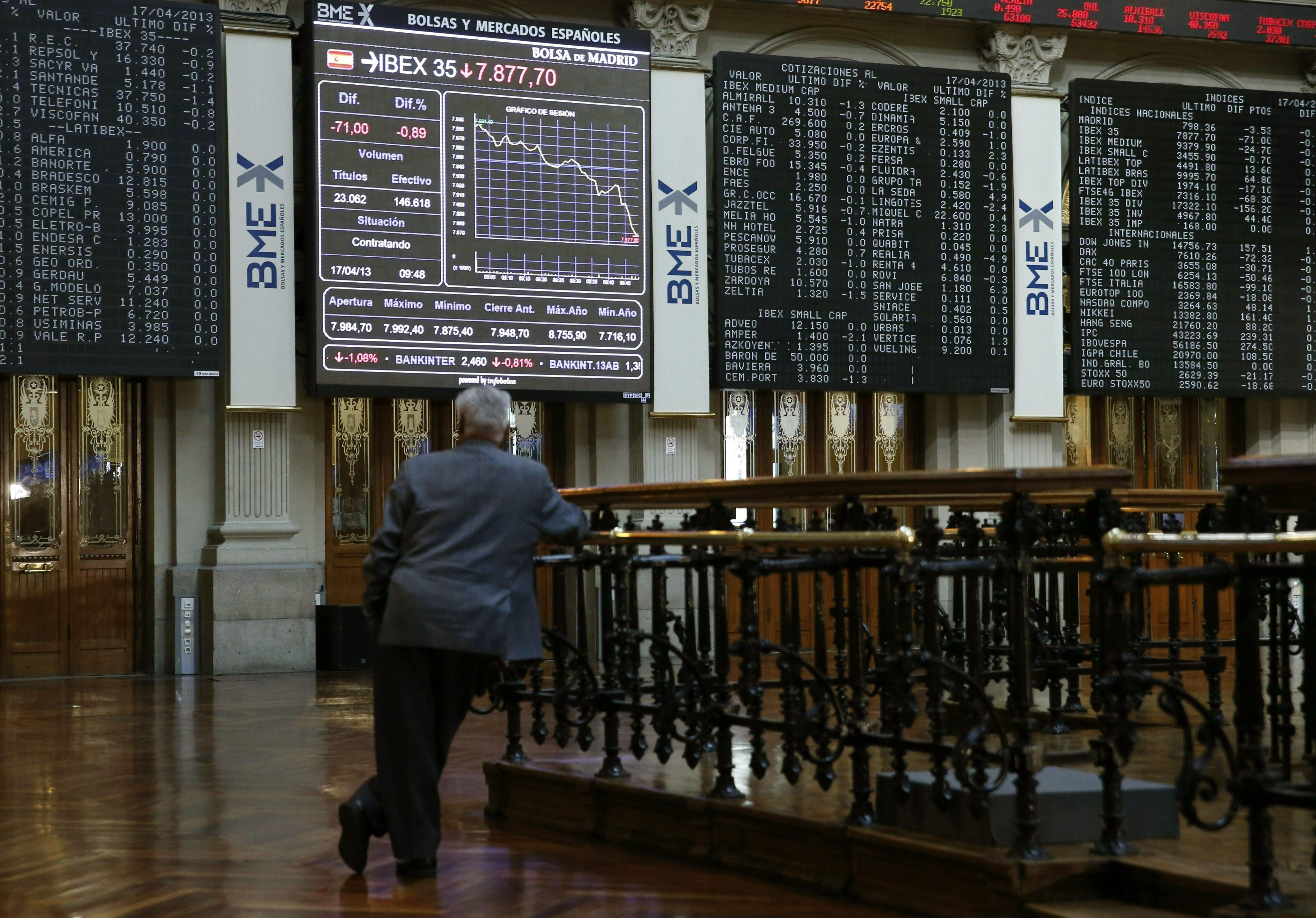 La Bolsa abre con pérdidas y el IBEX cede el 0,24 por ciento