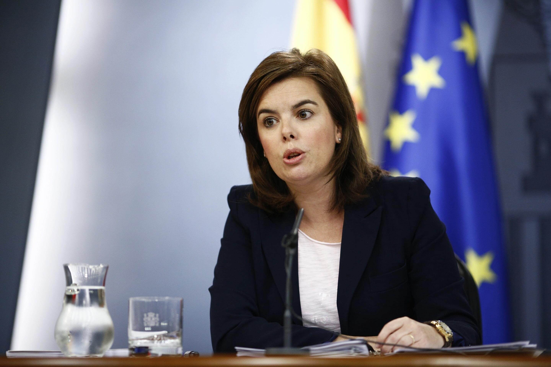 Sáenz de Santamaría: «El presidente explicará lo que sea necesario sobre Bárcenas»