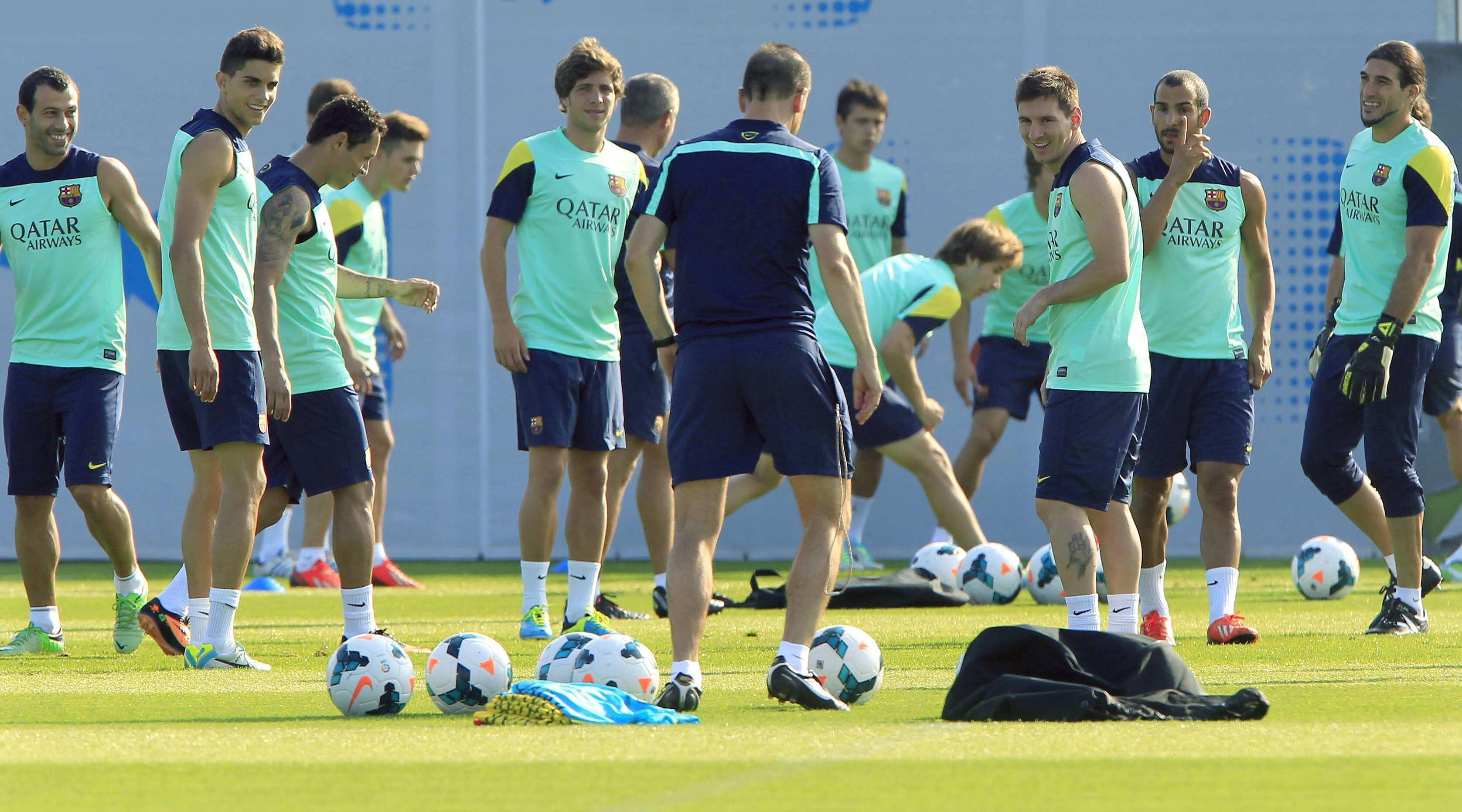 El Barça realizará una doble sesión antes de viajar a Polonia