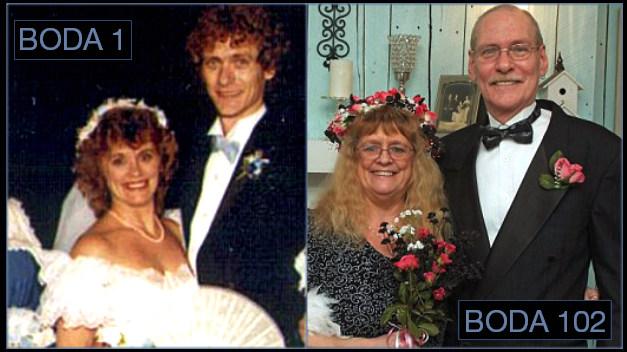 Una pareja estadounidense establece un récord al haberse casado 106 veces