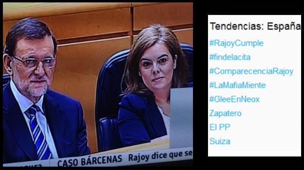 La comparecencia de Rajoy para explicar el caso Bárcenas toma las redes sociales