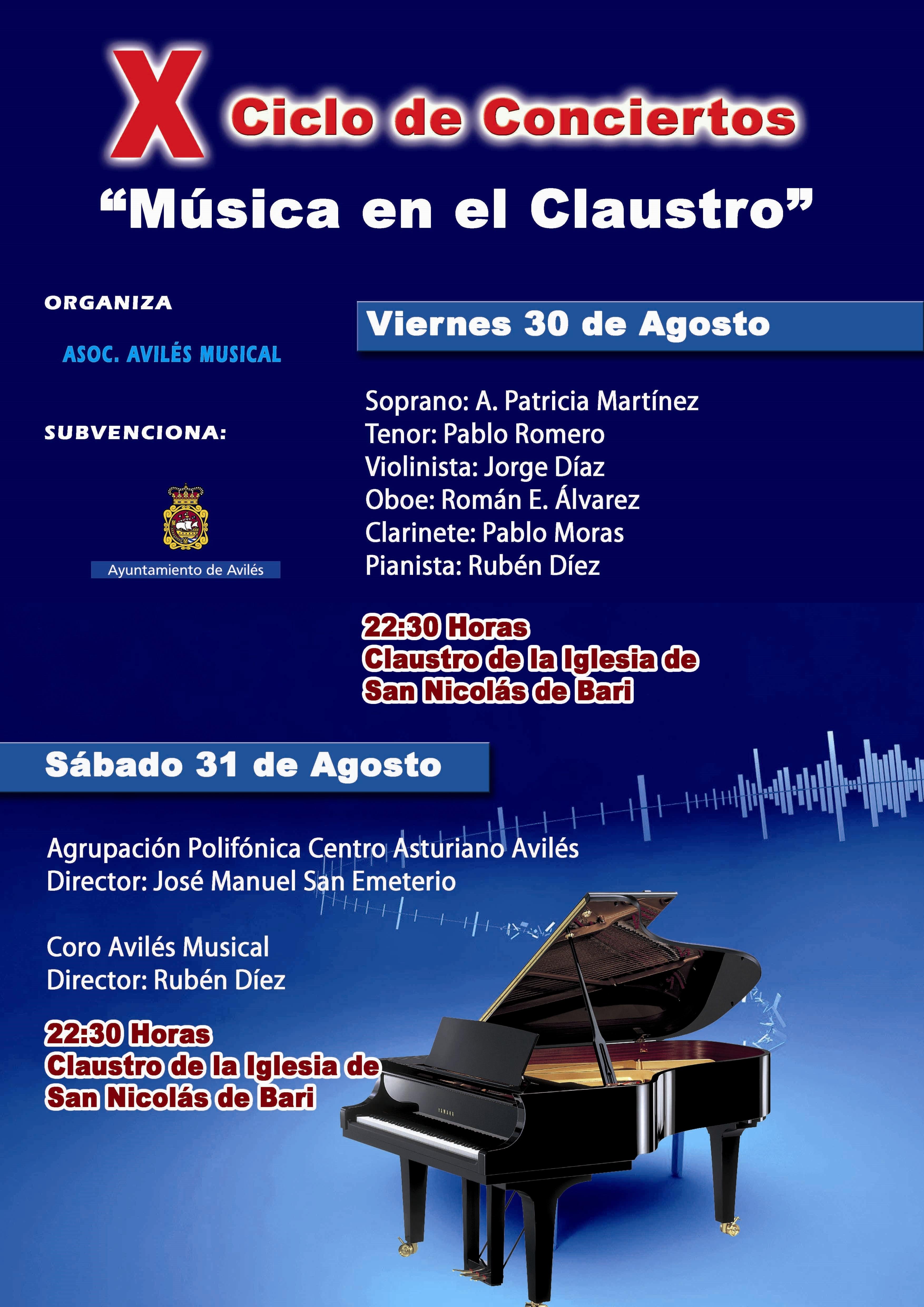 La ciudad celebra su X Ciclo de Música en el Claustro de la Iglesia de San Nicolás de Bari