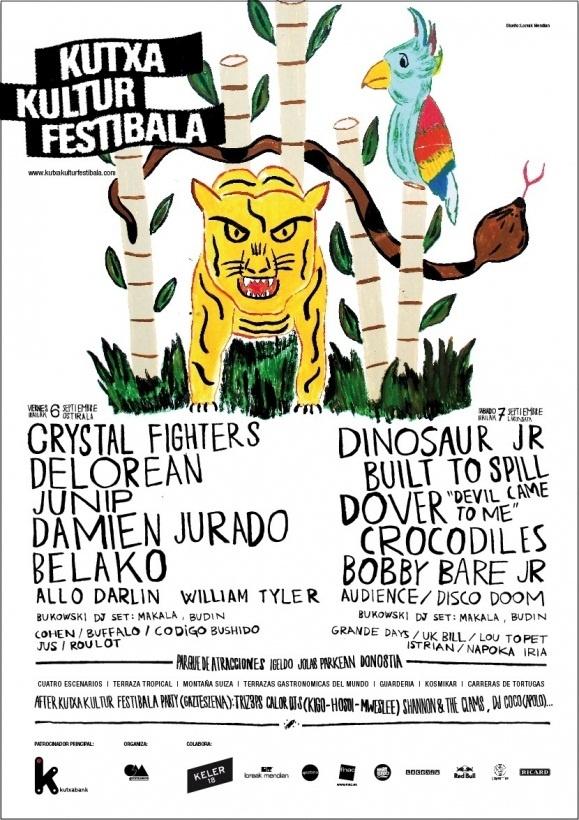 El festival Kutxa Kultur trae a San Sebastián los días 6 y 7 a grupos como Dinosaur Jr. o Crystal Fighters