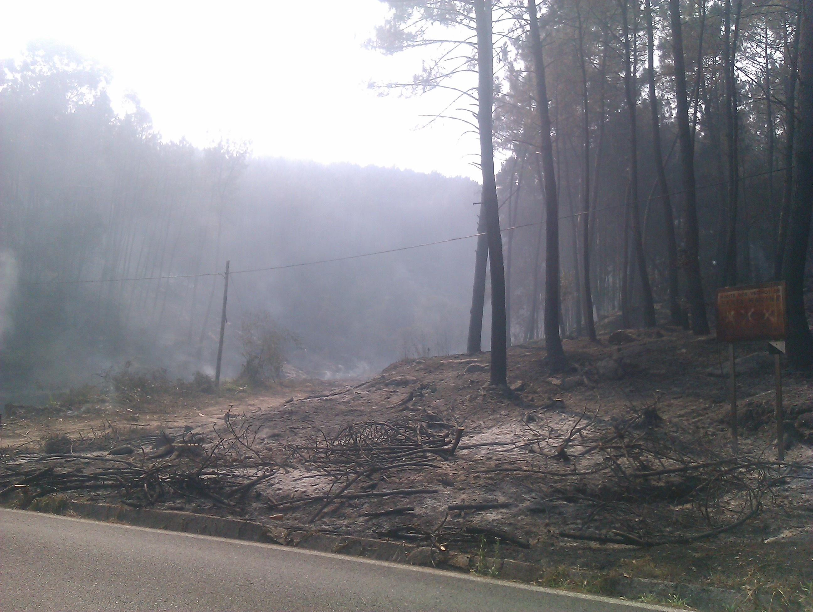 Movilizados más de 600 efectivos por el incendio de Oia, al que se suman 45 de la UME desde Zaragoza