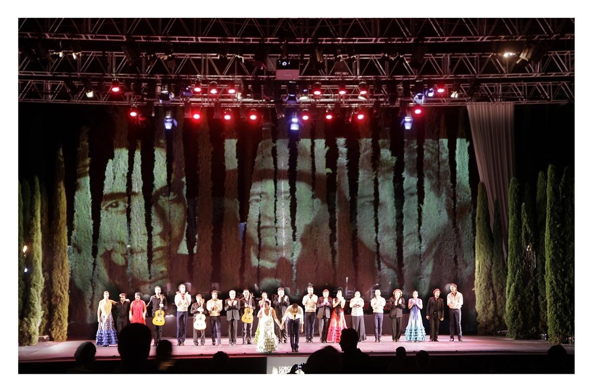 Recta final del espectáculo »Duende» en el Generalife, para el que aún quedan entradas
