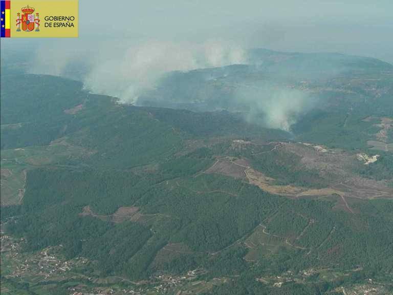 El alcalde de Oia afirma que no tiene «ninguna duda» de la intencionalidad y estima que ardieron 1.800 hectáreas