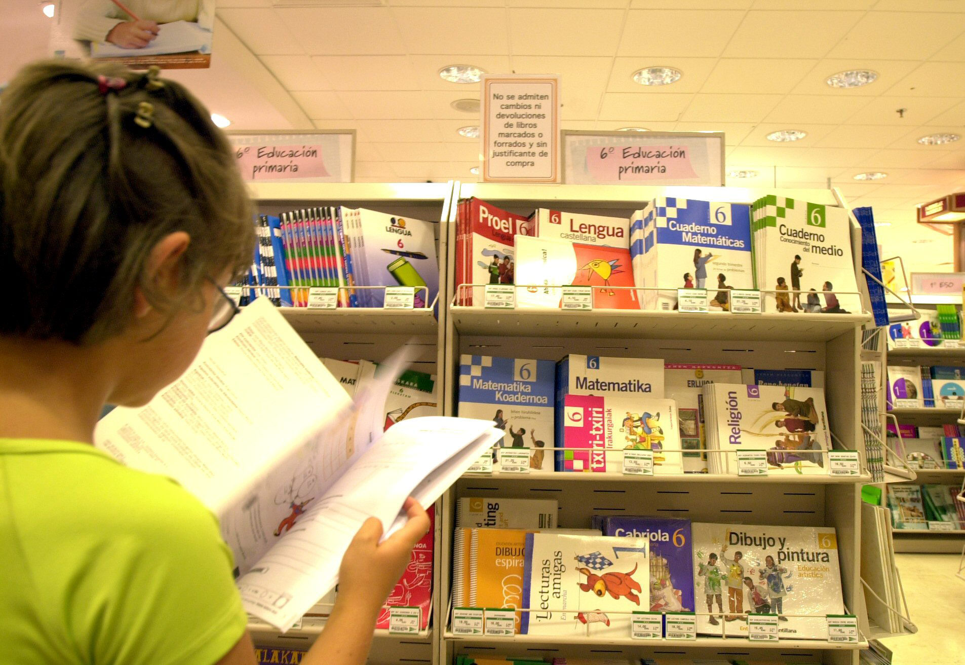 El precio de los libros de texto sube un 1,1 por ciento, menos que el IPC de julio