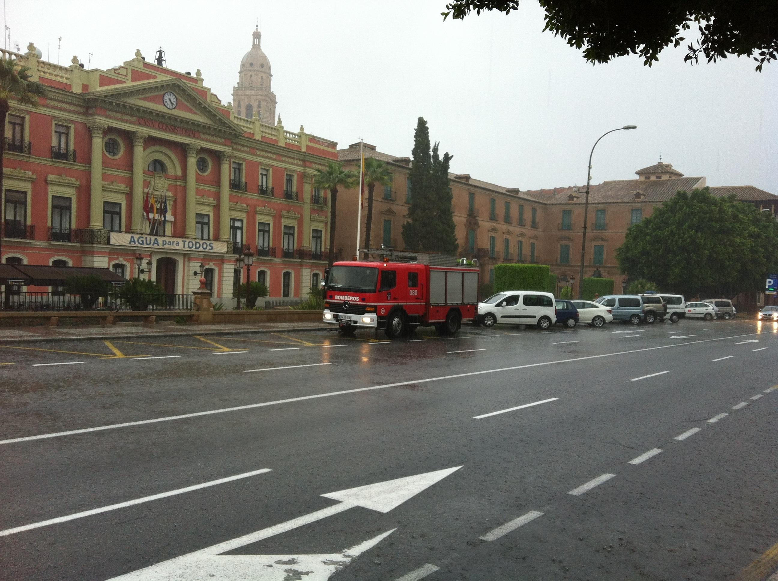 Aemet activa para este miércoles y jueves la alerta amarilla por lluvias y tormentas en la Región de Murcia