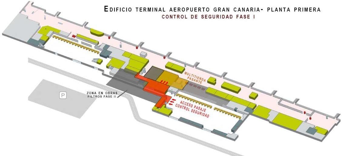 Los usuarios del Aeropuerto de Gran Canaria accederán al embarque por el duty-free tras pasar el control de seguridad