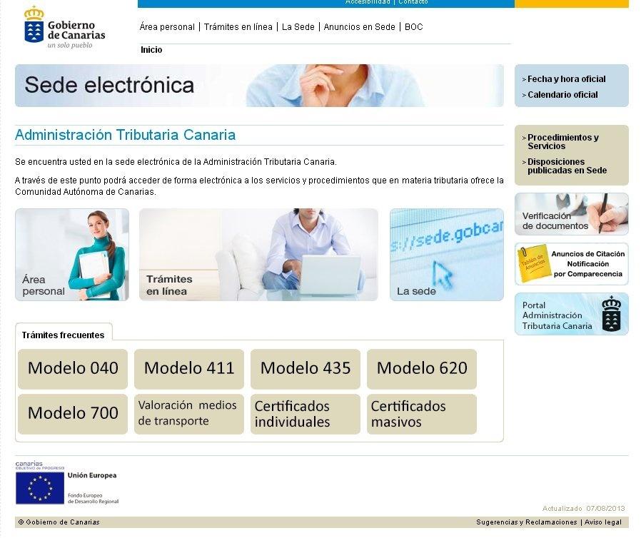 La Agencia Tributaria Canaria realiza medio millón de trámites online desde 2011