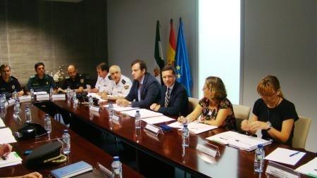 Celebrada una reunión preparatoria para el dispositivo de seguridad con motivo del acto del Día de Extremadura
