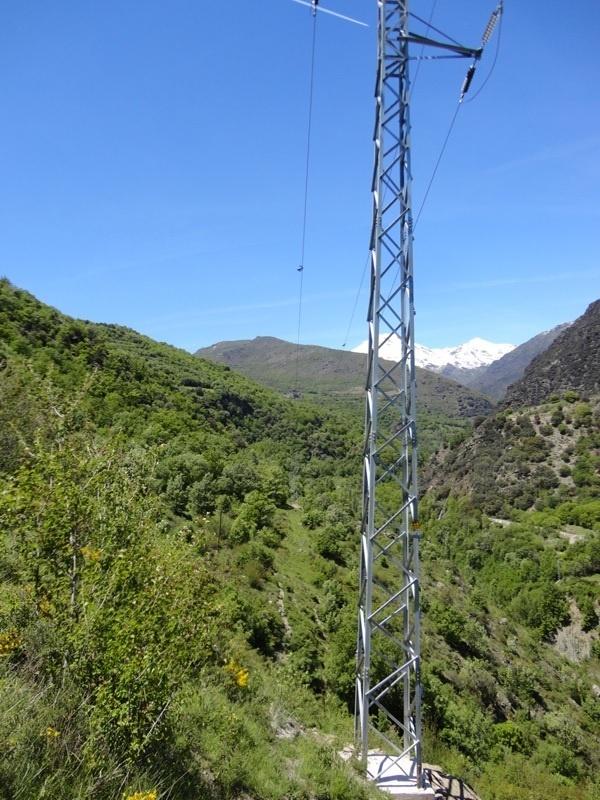 Endesa reforma una línea eléctrica en Sort para proteger a las aves del Pirineo de Lleida