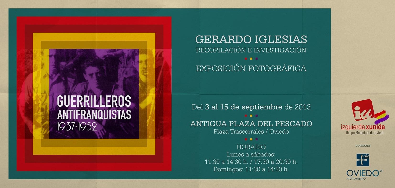IU organiza la exposición fotográfica »Guerrilleros antifranquistas 1937-1952»
