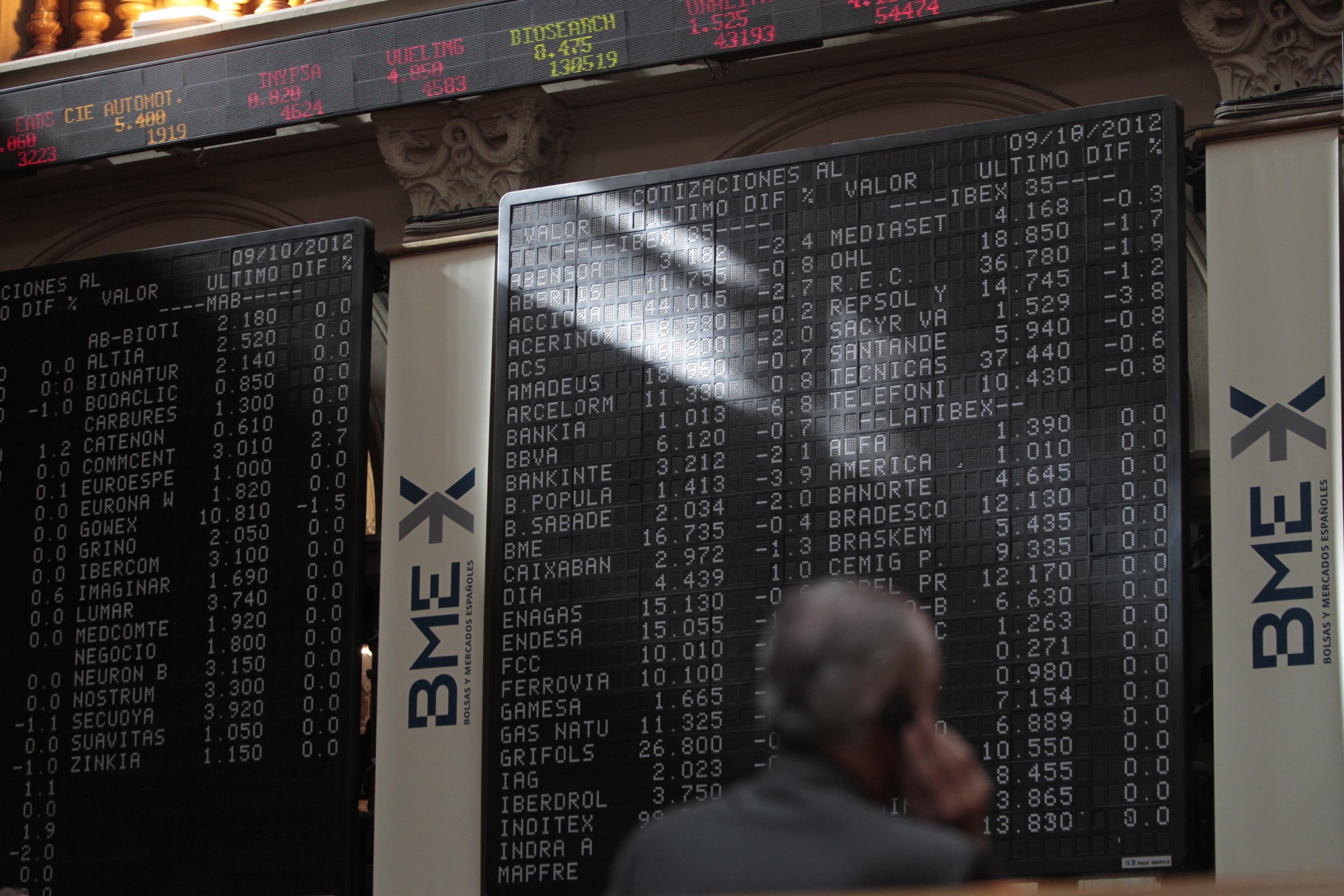 El Ibex se queda a las puertas de los 8.400 enteros tras la apertura al alza de Wall Street