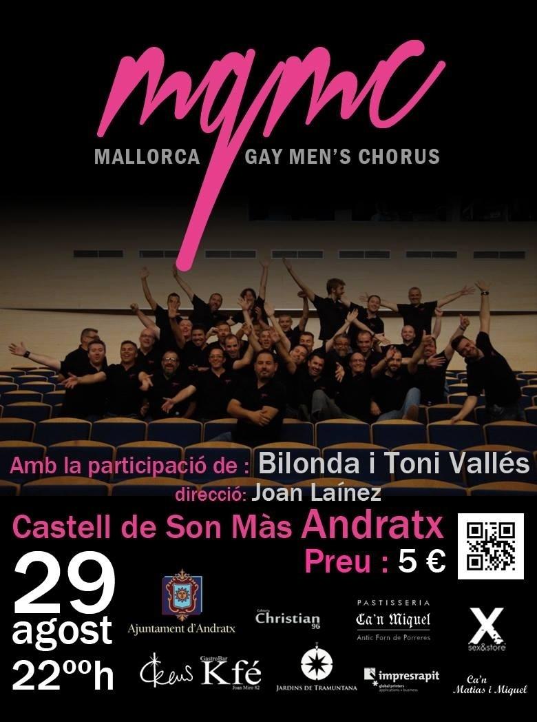 El grupo Mallorca Gay Men`s Chorus actúa este jueves en el castillo Son Mas de Andratx