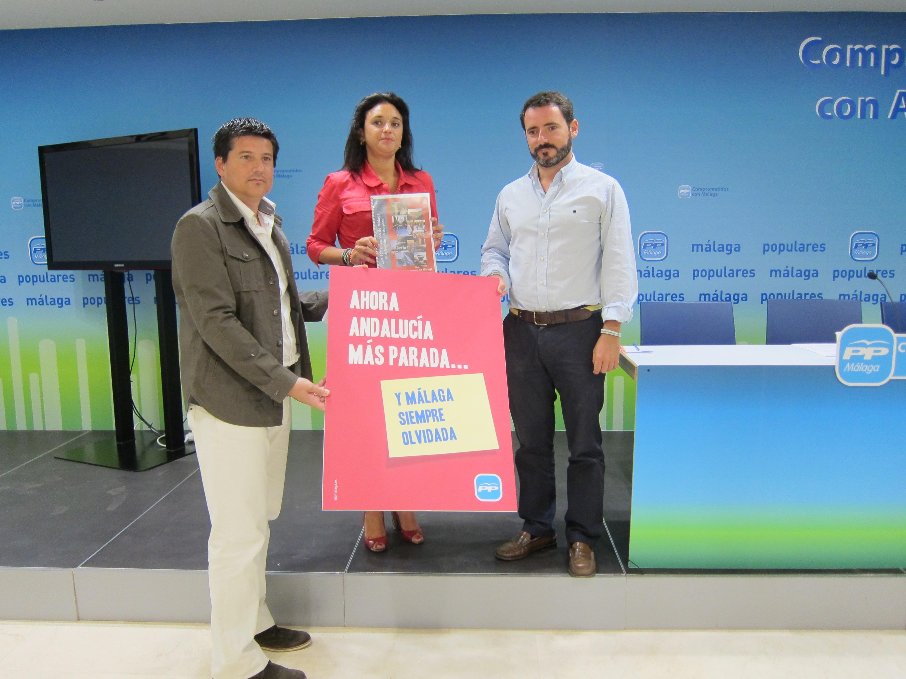 PP critica el «abandono» de la provincia por parte Griñán y pide a Díaz que cumpla «con lo prometido» en Málaga