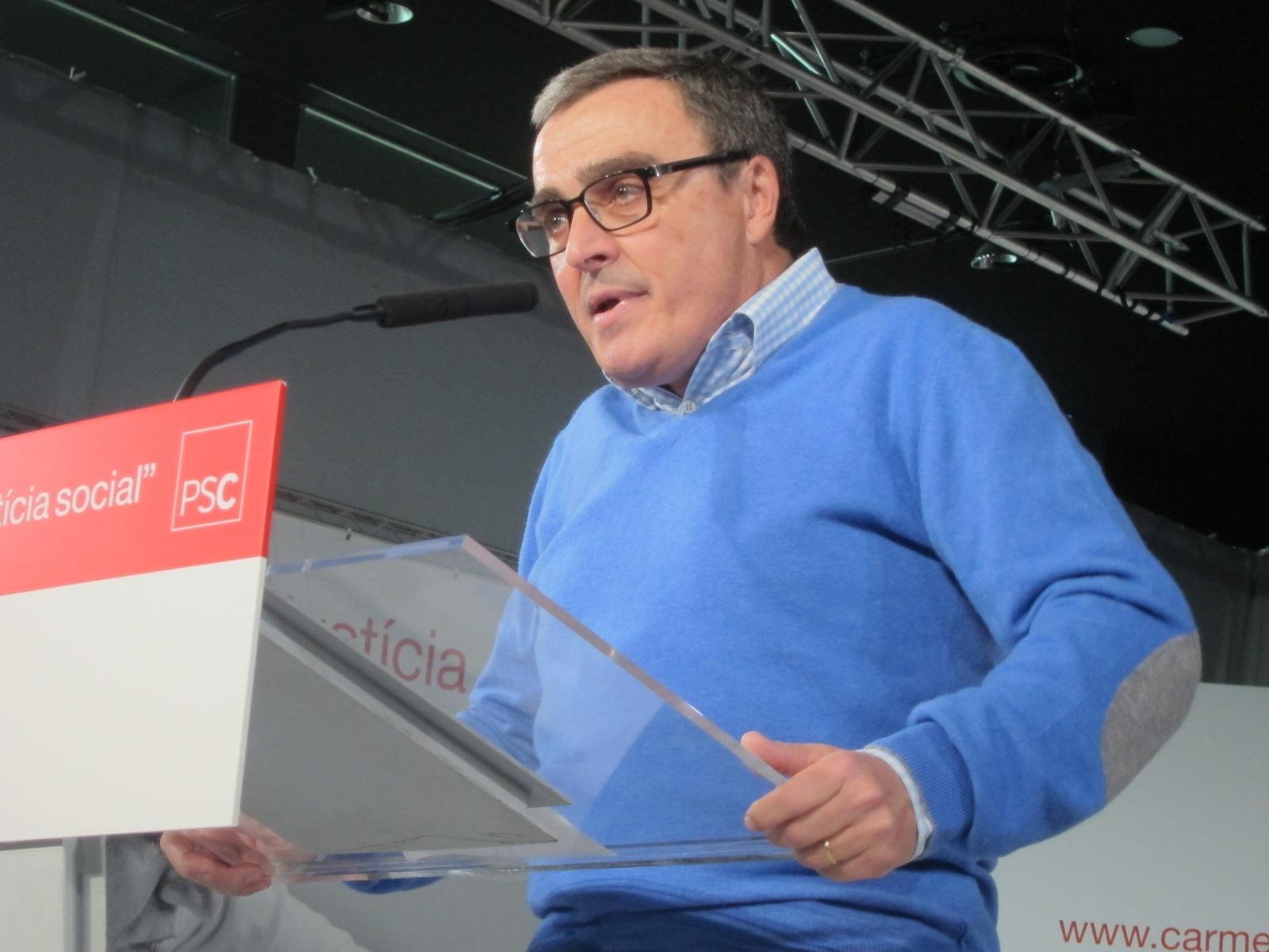 Ros pide al PSC que respete la voluntad de sus militantes para asistir a la cadena de la Diada