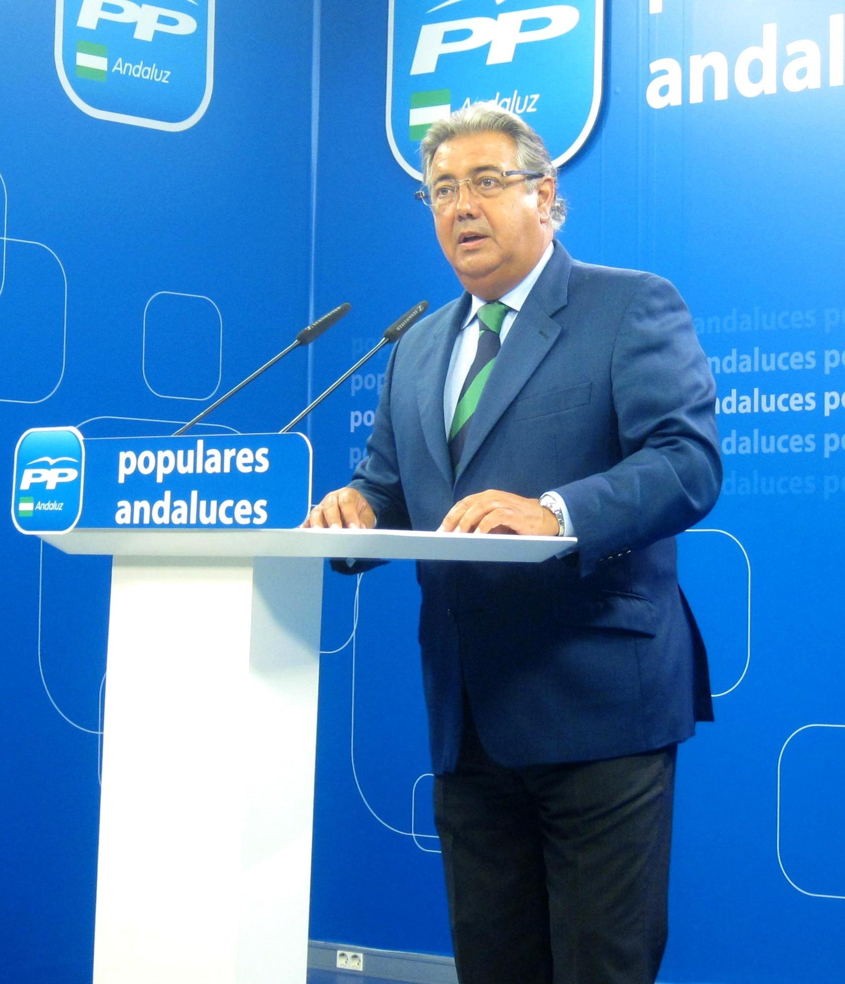 Zoido considera una «farsa y un fraude» el debate de investidura y reclama elecciones andaluzas anticipadas