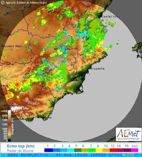 Las lluvias dejan 58,2 litros por metro cuadrado en Cortes de Pallás, 33 en Ontinyent y 31,8 en Navarrés