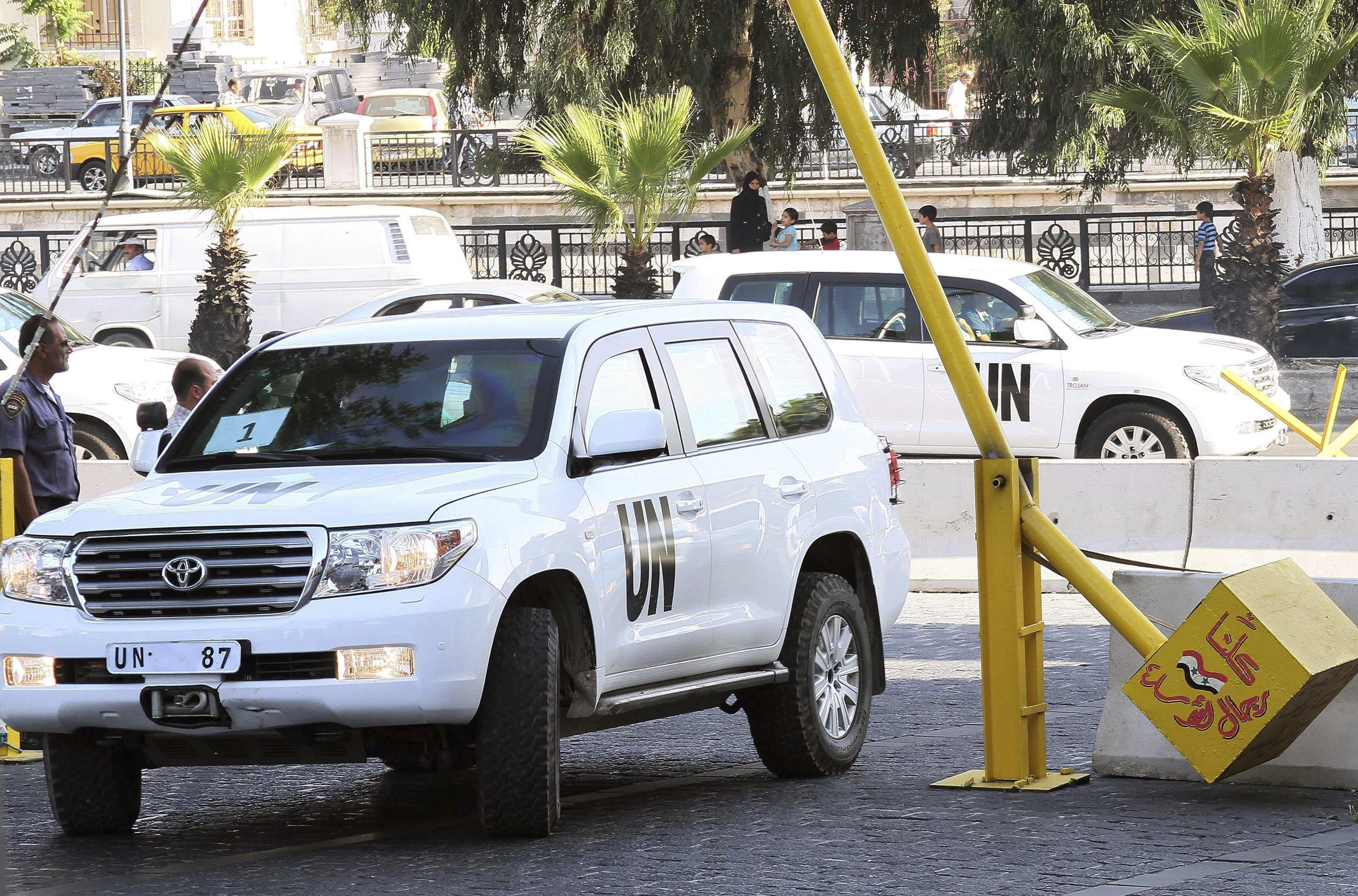 Los expertos de la ONU entran en la zona del supuesto ataque químico cerca de Damasco