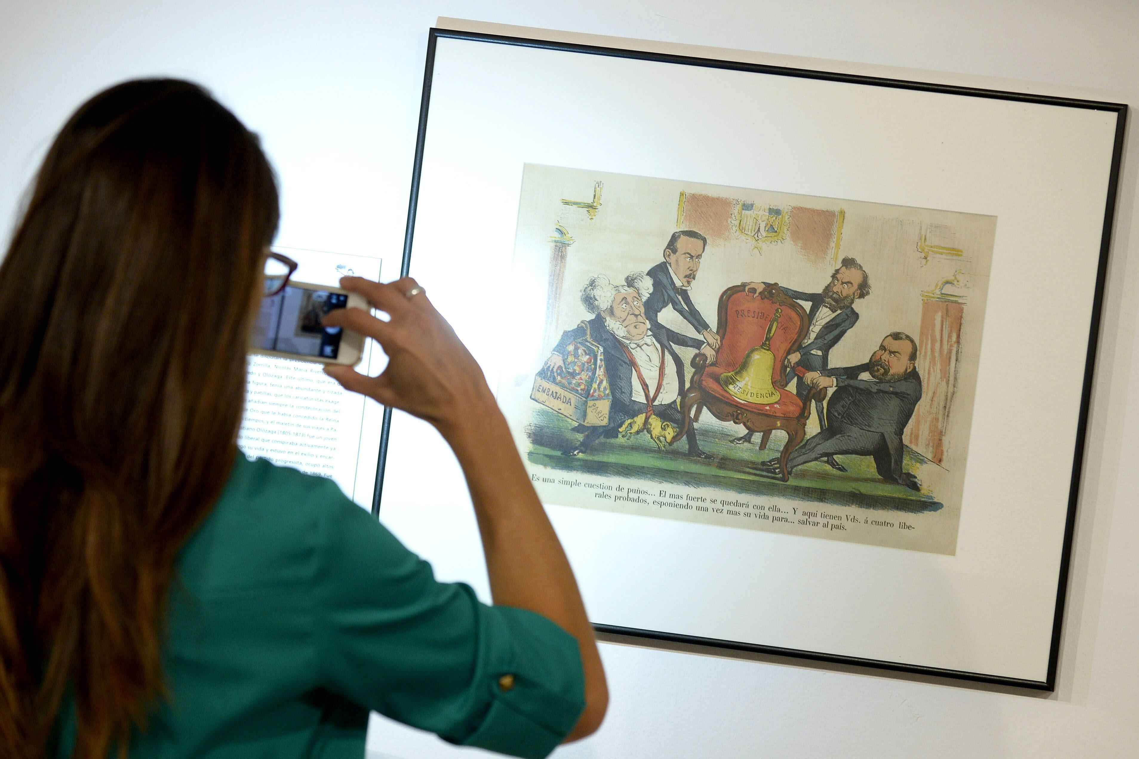 Una exposición narra la segunda mitad del XIX desde la crítica satírica