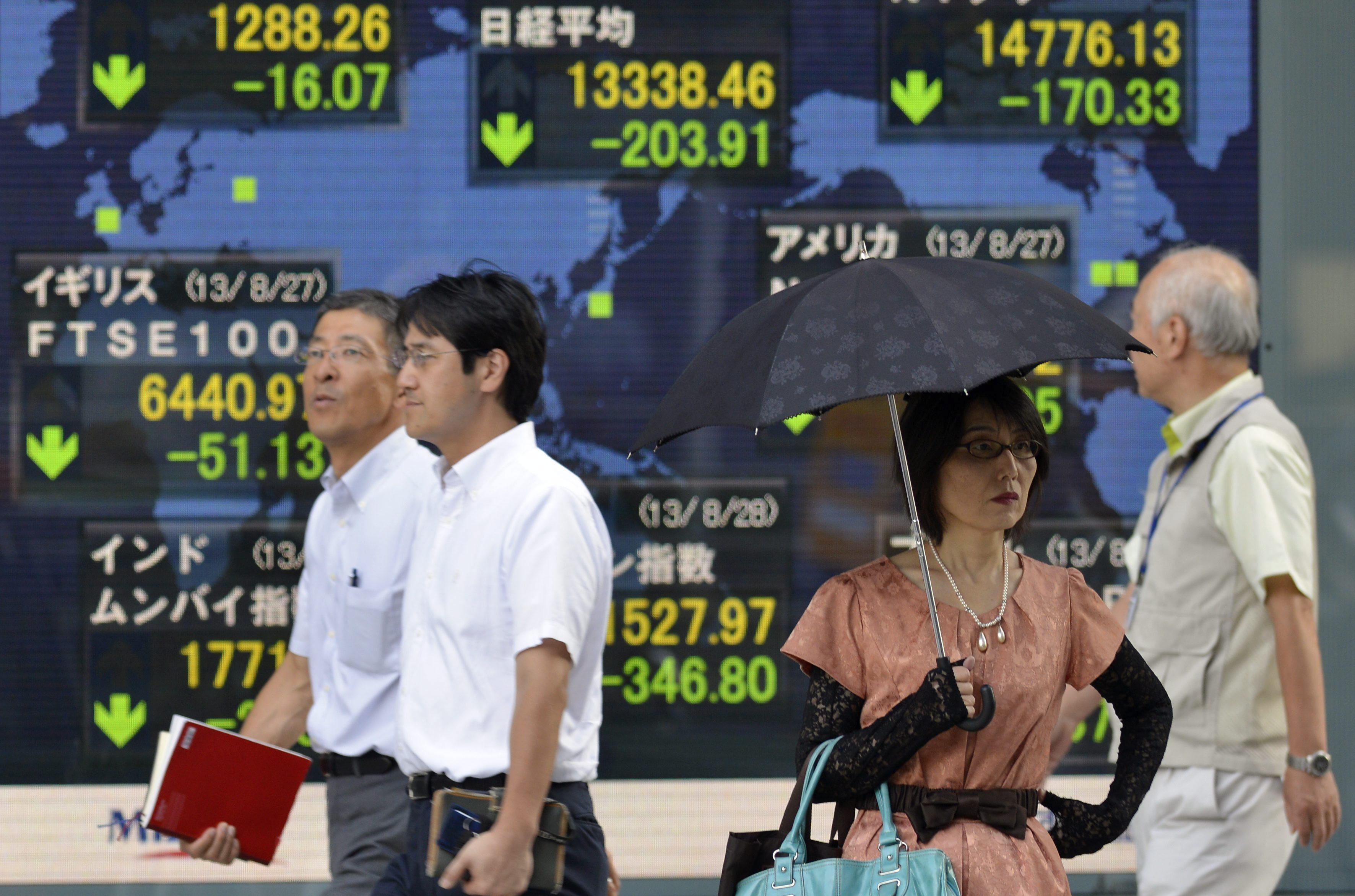 El Nikkei sube 43,74 puntos, el 0,33 por ciento, hasta 13.382,20 unidades