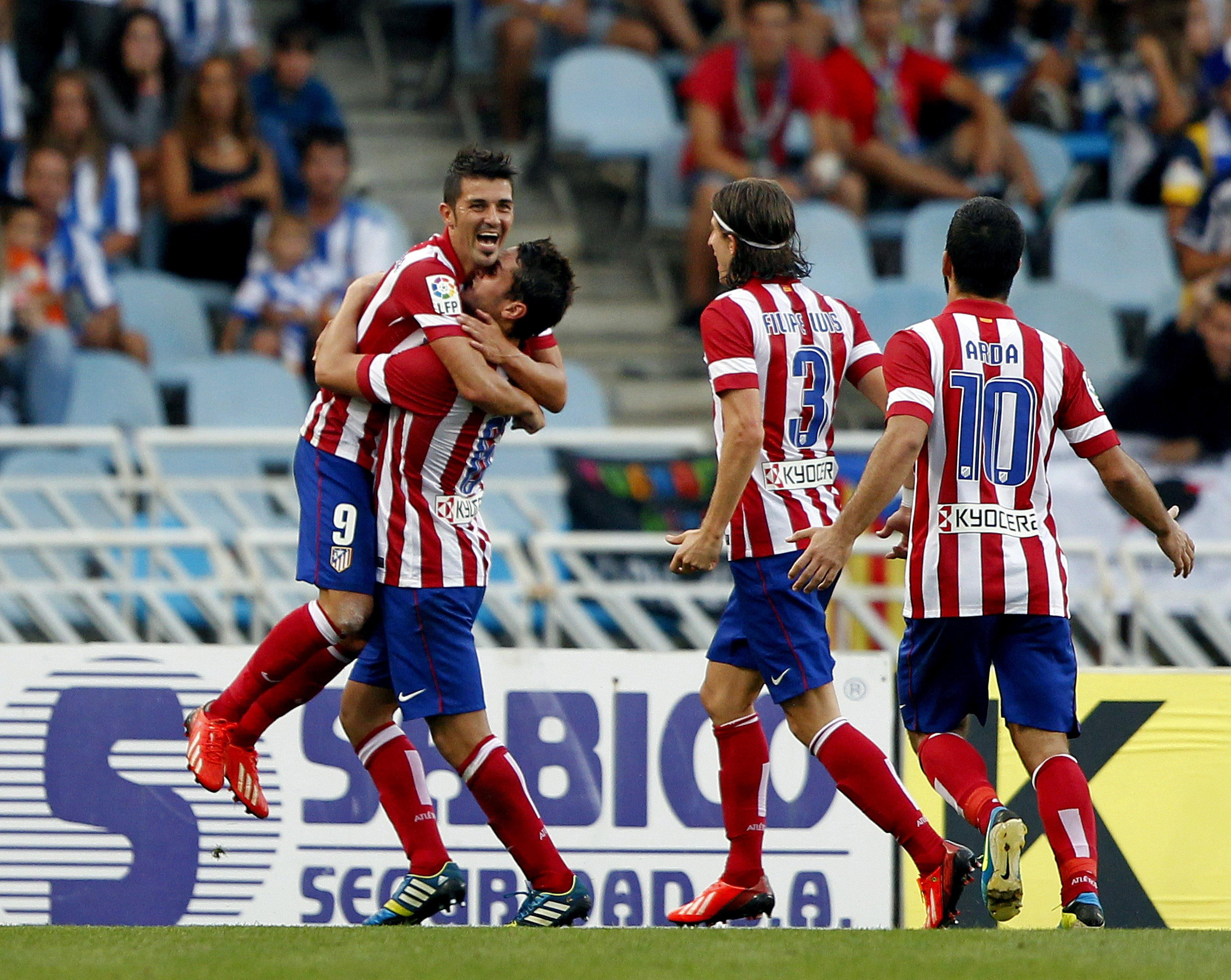 Villa regresa a Madrid con molestias musculares y trabaja al margen