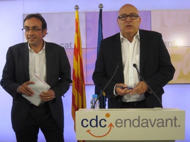 CDC explorará vías para ilegalizar a los partidos que atacaron la sede del Gobierno catalán en Madrid