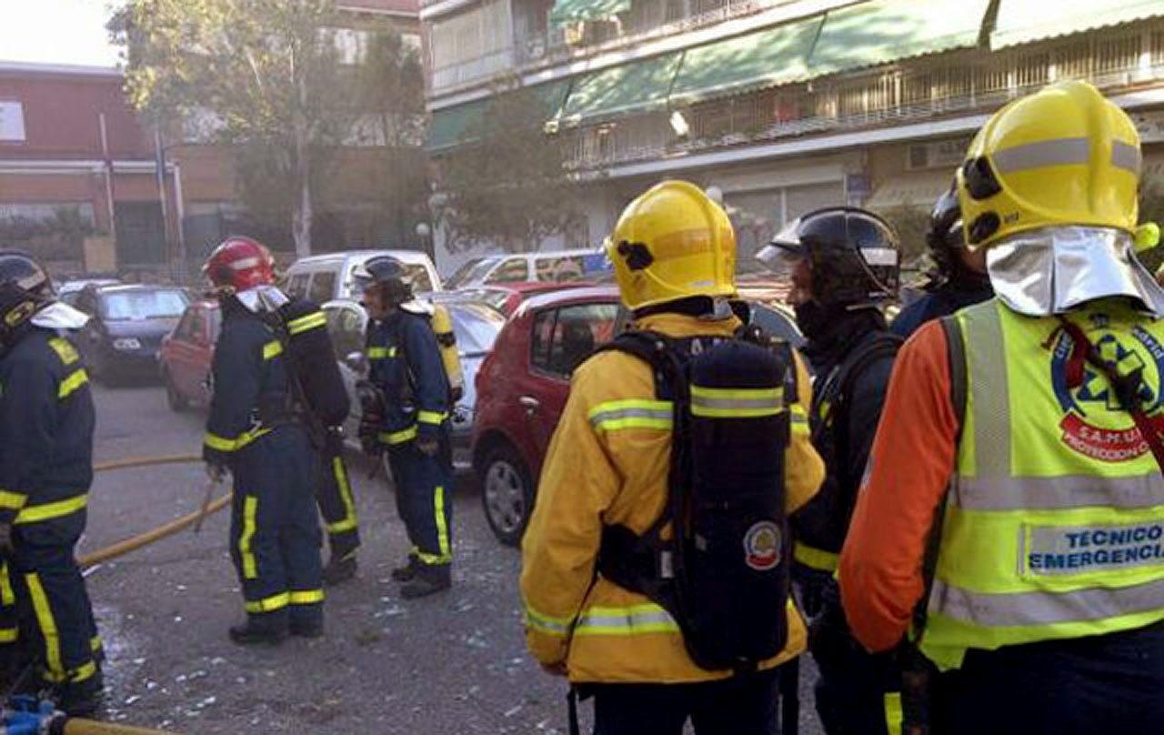 Una explosión de gas deja seis heridos en el madrileño barrio de Carabanchel